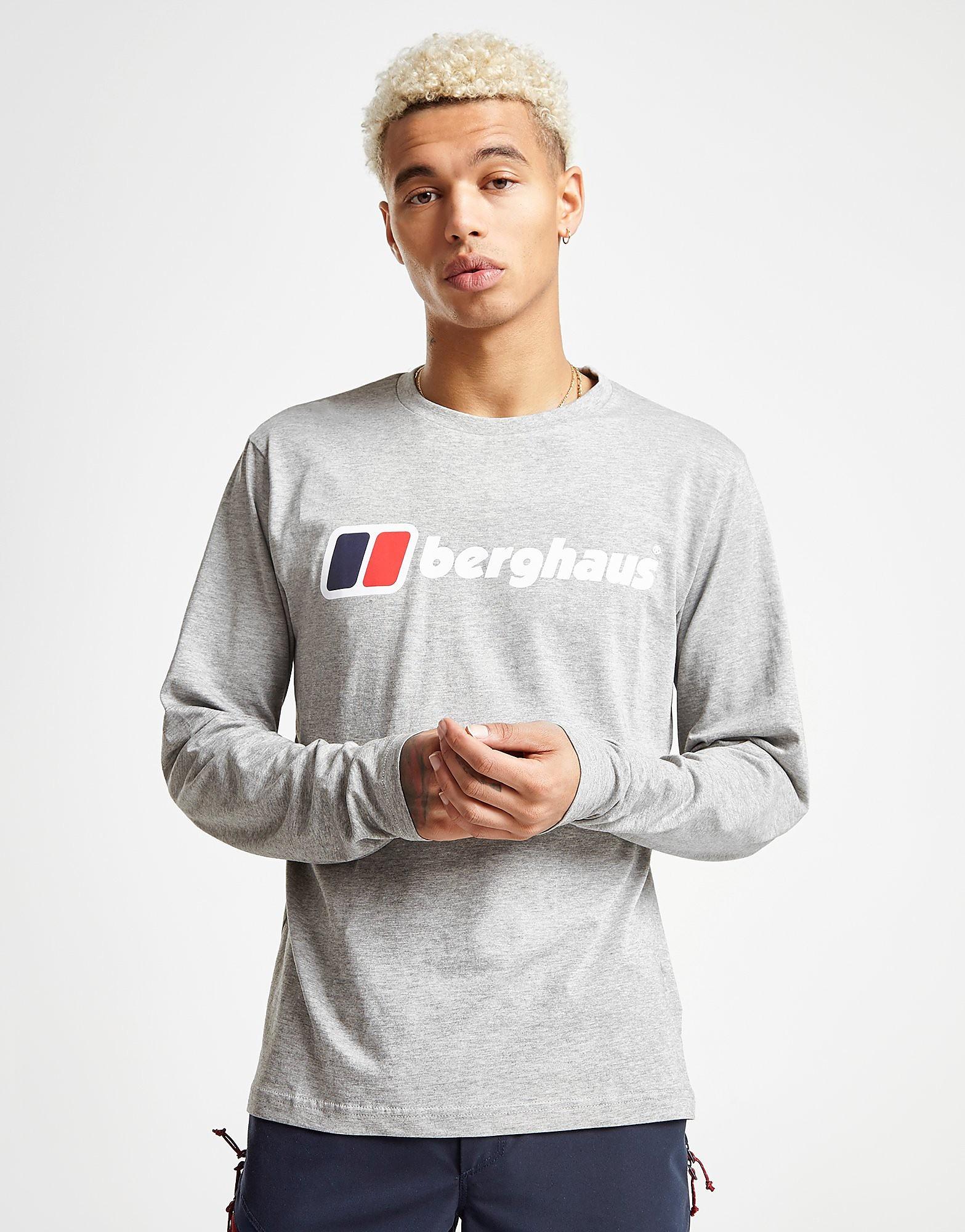 Berghaus Blocks Long Sleeve T-Shirt Heren - Grijs - Heren