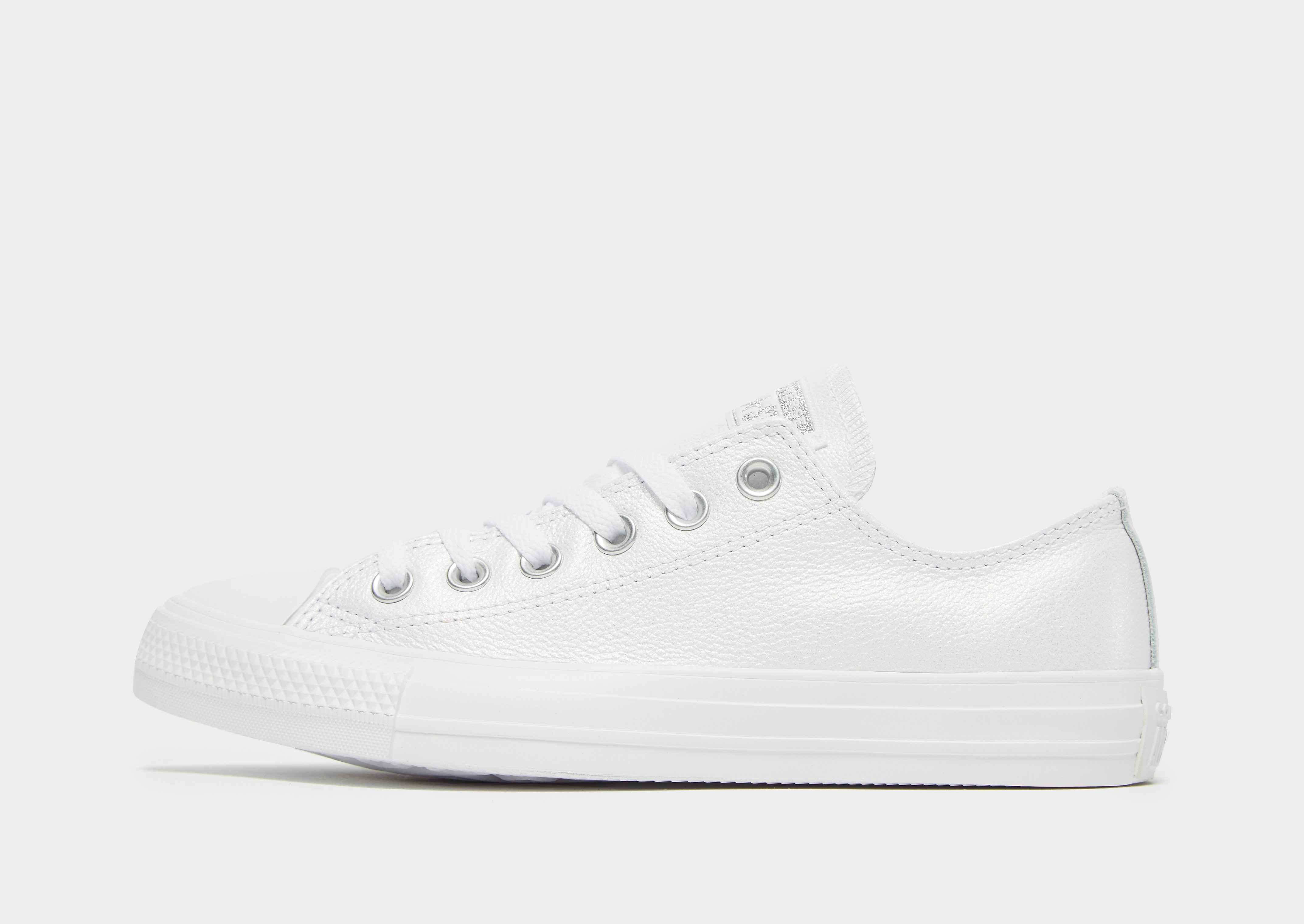 Converse All Star Ox Leather Junior - alleen bij JD - Wit - Kind