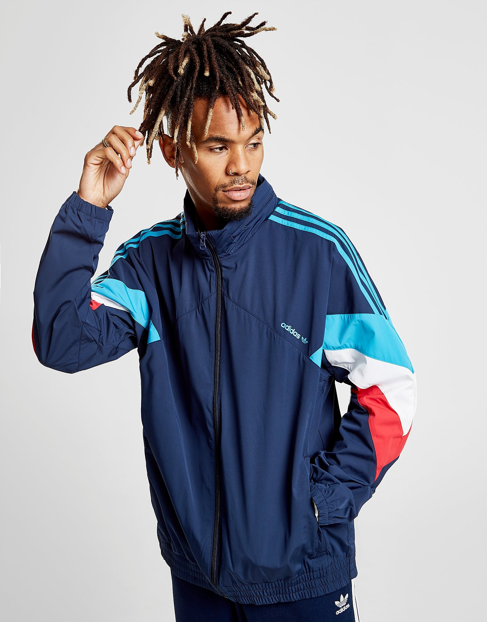 adidas Originals Palmeston Windbreaker Heren - Blauw - Heren