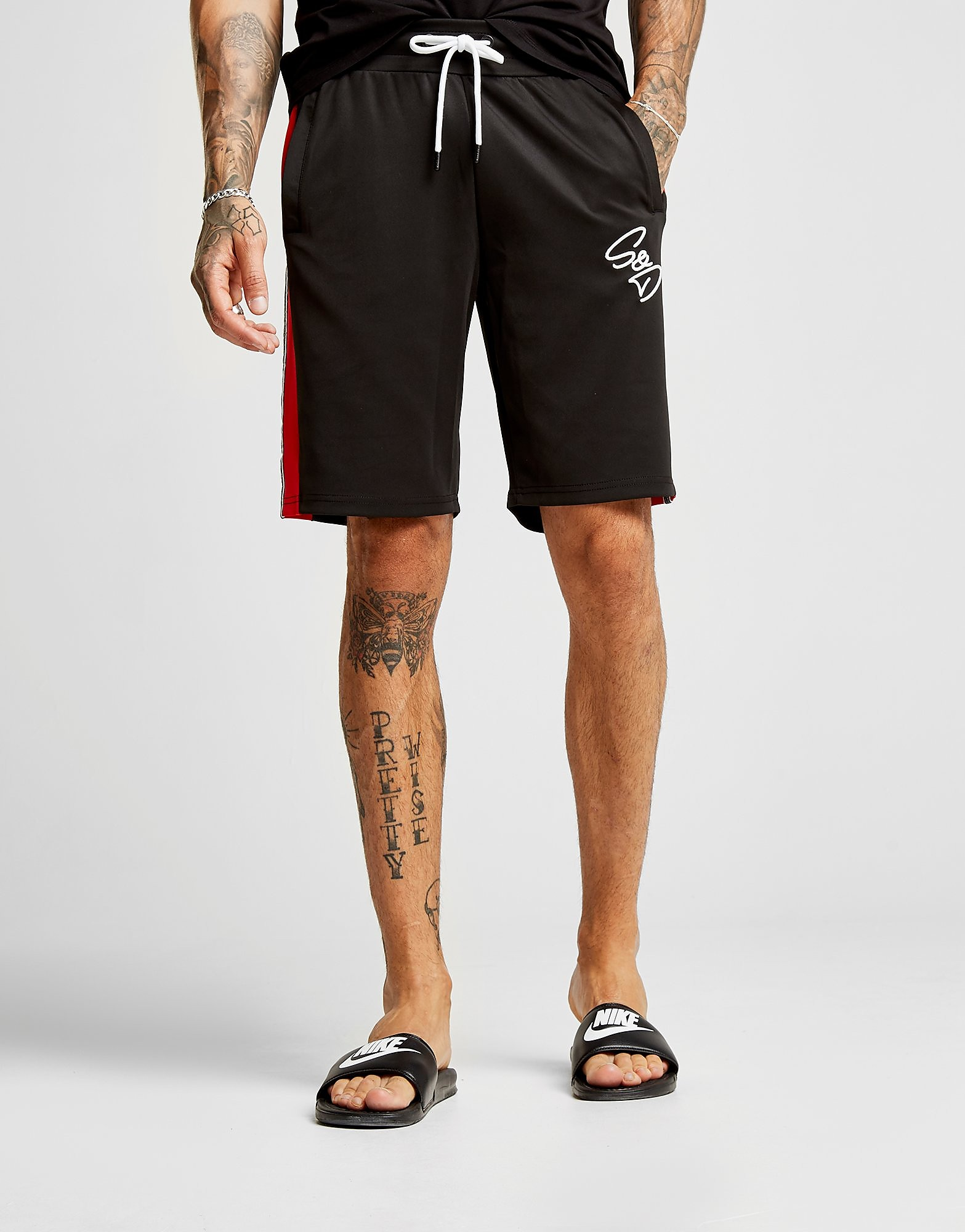 Supply & Demand Script Tape Shorts - Only at JD, Black
