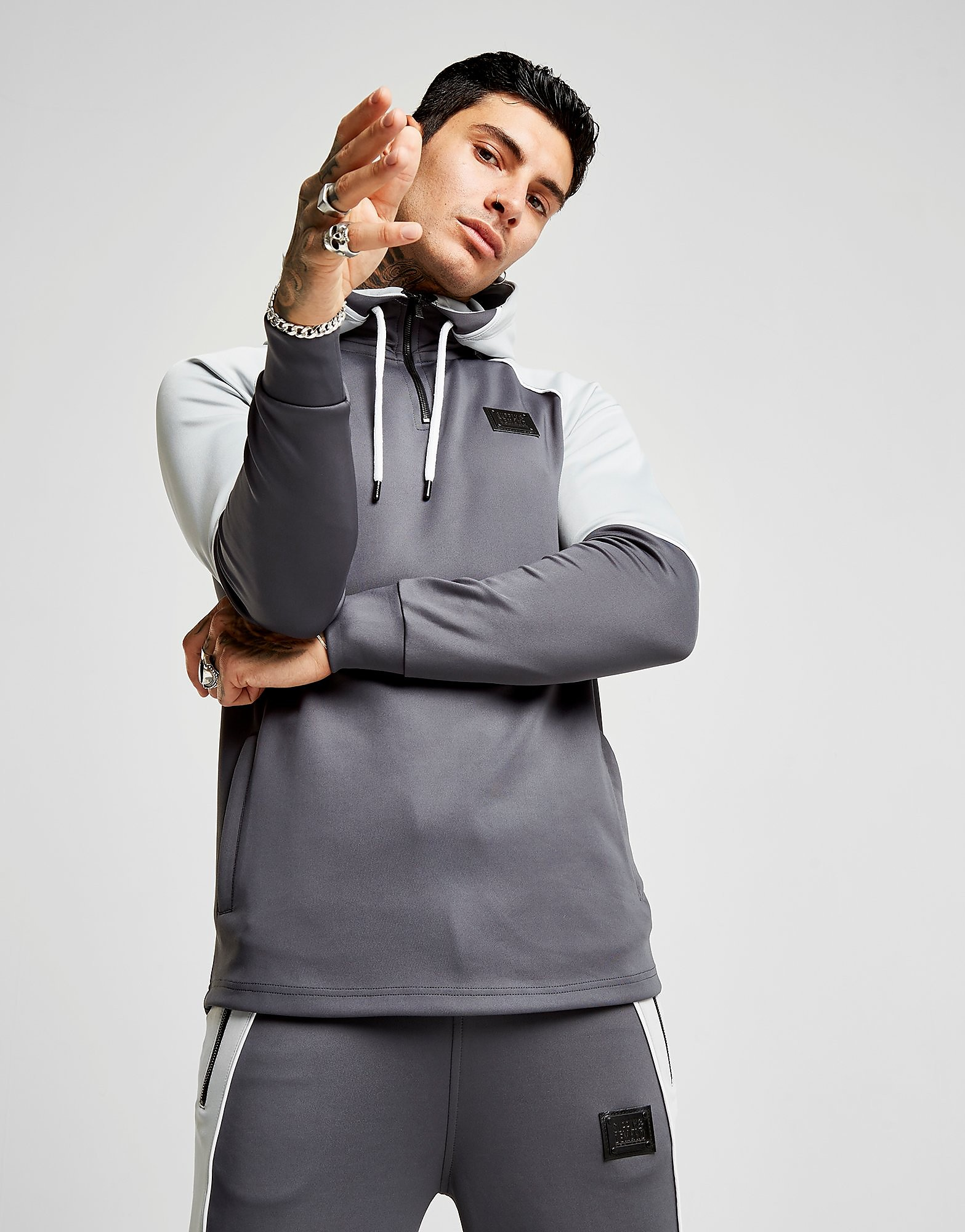 Supply & Demand Iris 1/4 Zip Hoodie - Only at JD, Grey