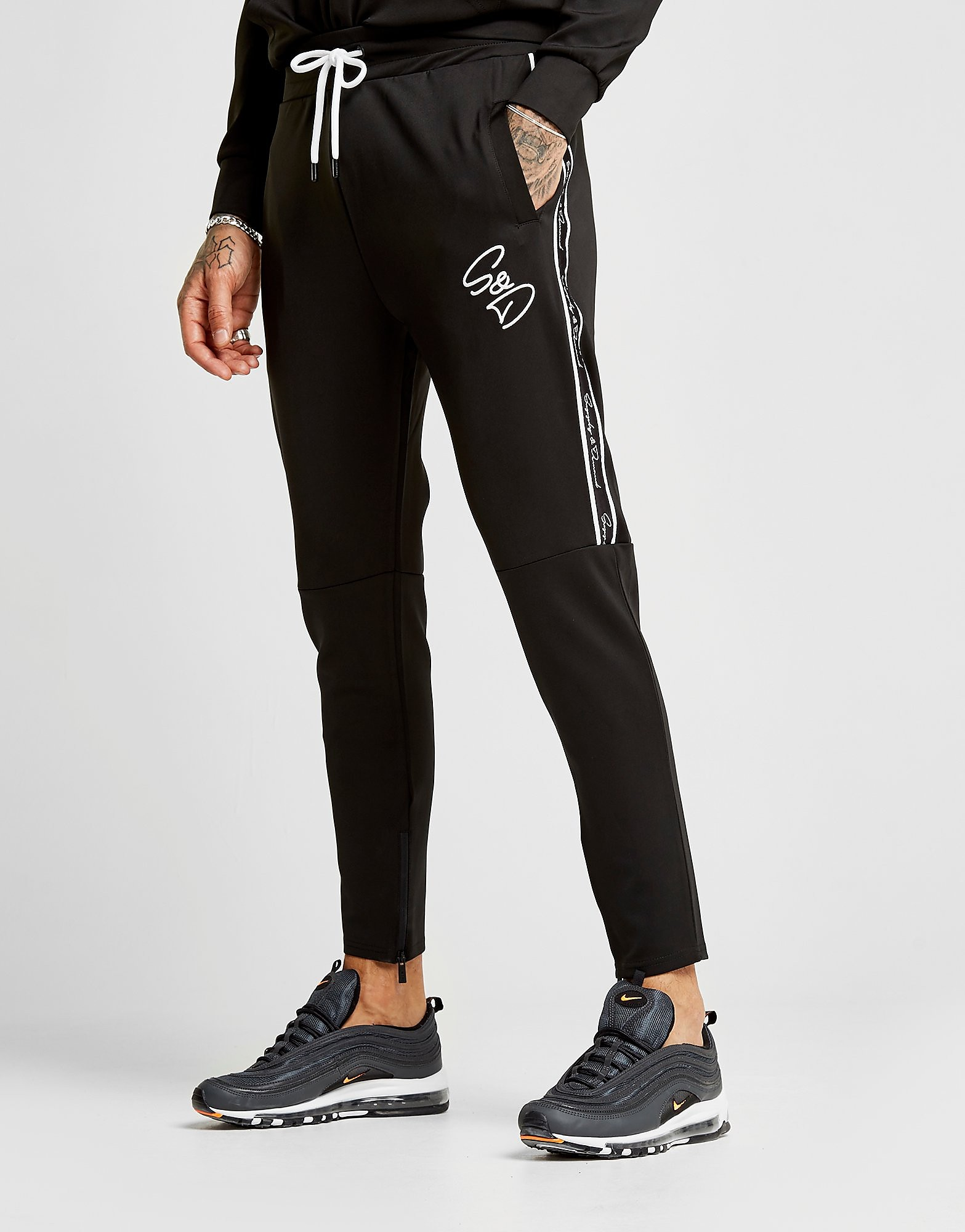 Supply & Demand Script Tape Joggers - Only at JD, Black