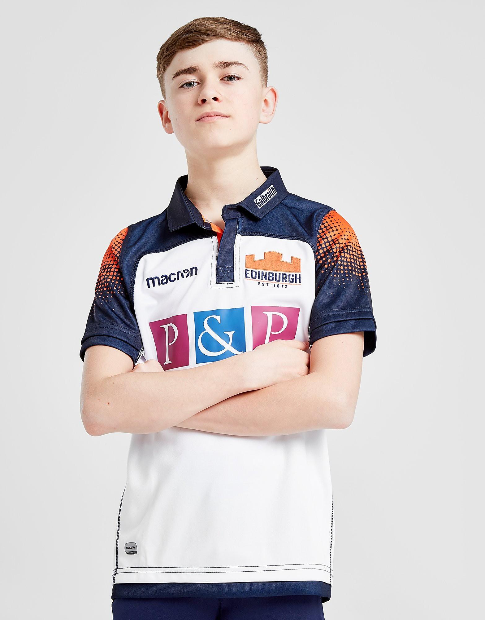 Macron Edinburgh Rugby 2018/19 Away Shirt Junior - Wit - Kind