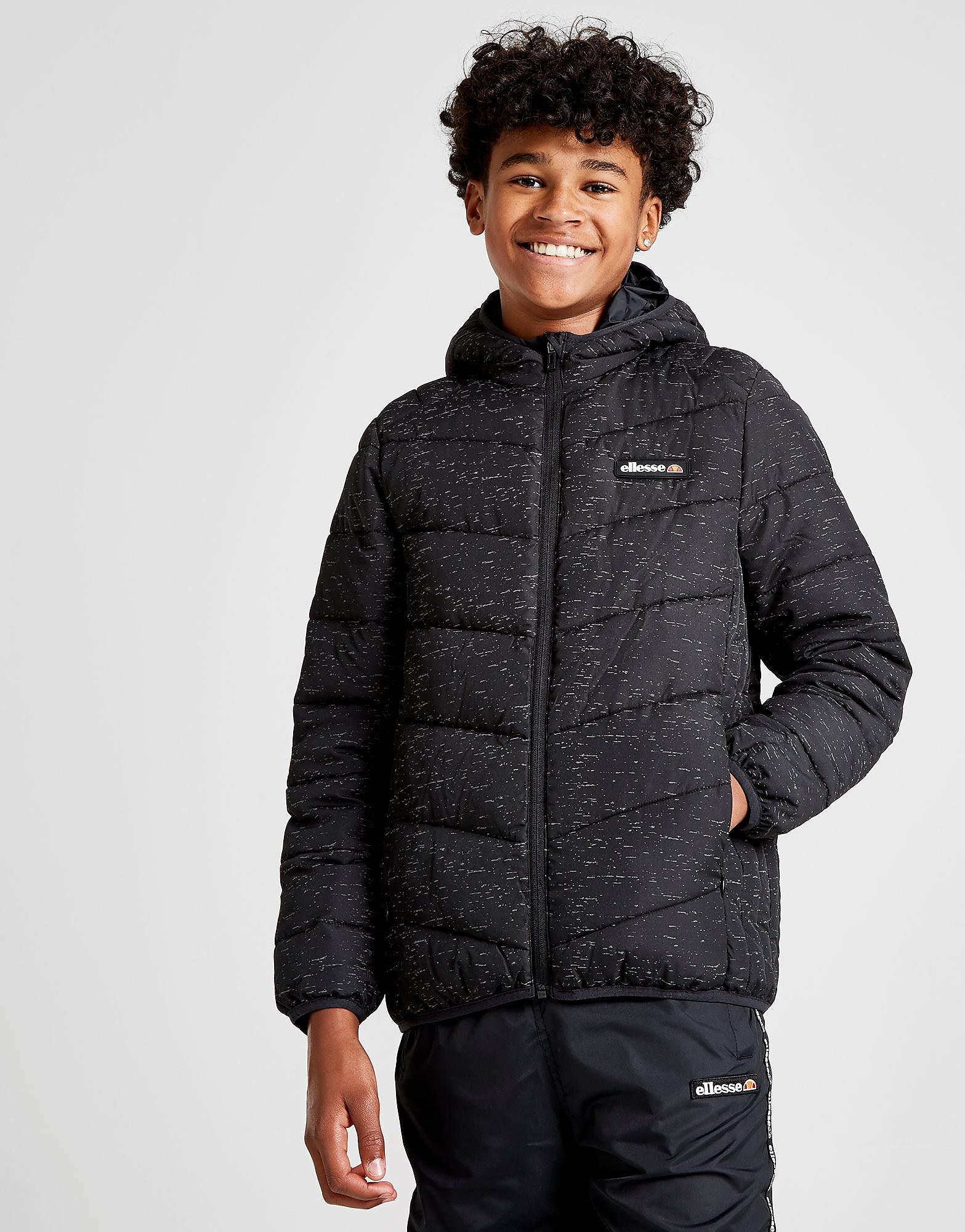 Ellesse Osvaldo Speckle Jacket Junior - Zwart - Kind