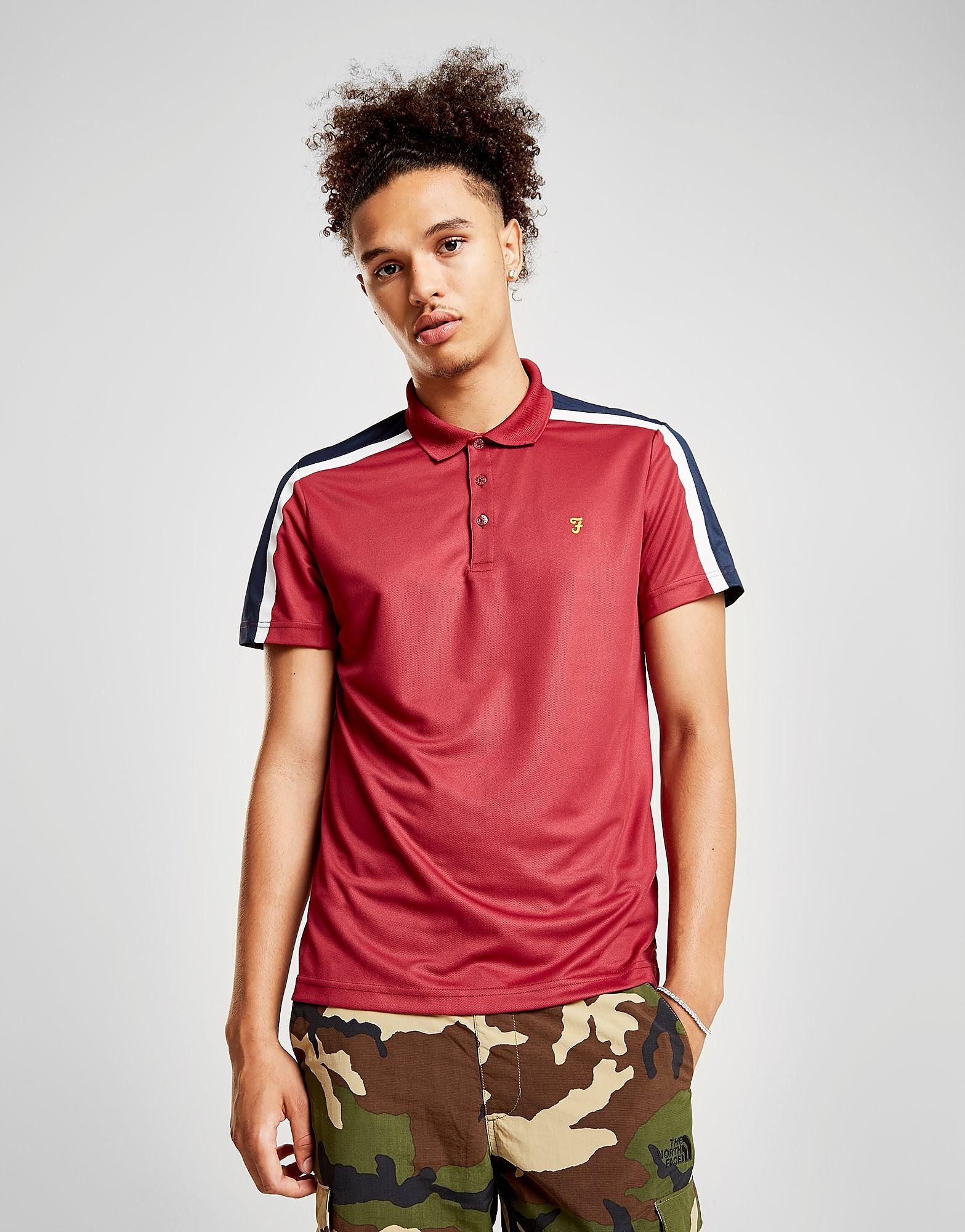 Farah Colour Block Polo Shirt Heren - Rood - Heren