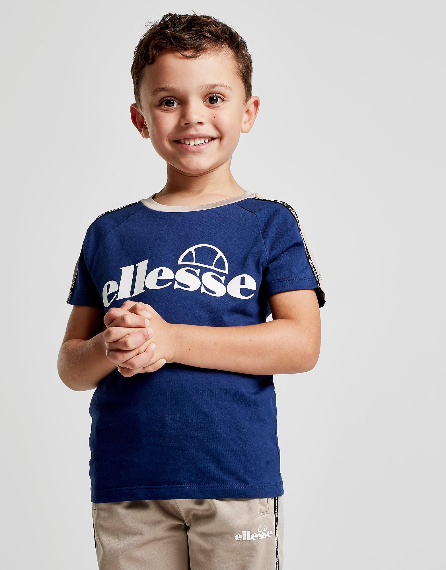 Ellesse Edison Tape T-Shirt Kinderen - alleen bij JD - Blauw - Kind