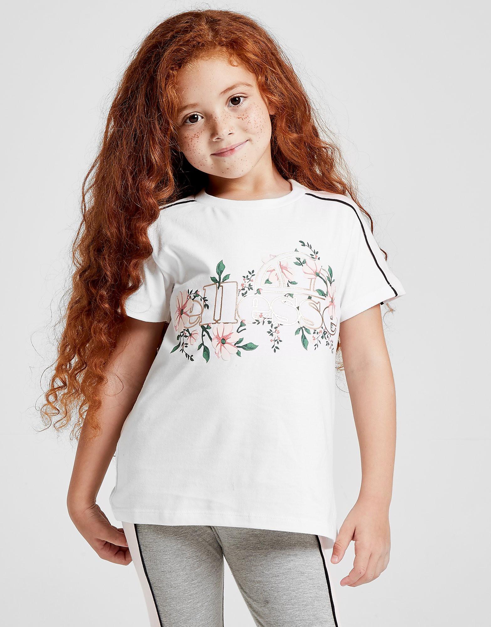 Ellesse Girls' Bluebell T-Shirt Kinderen - alleen bij JD - Wit - Kind