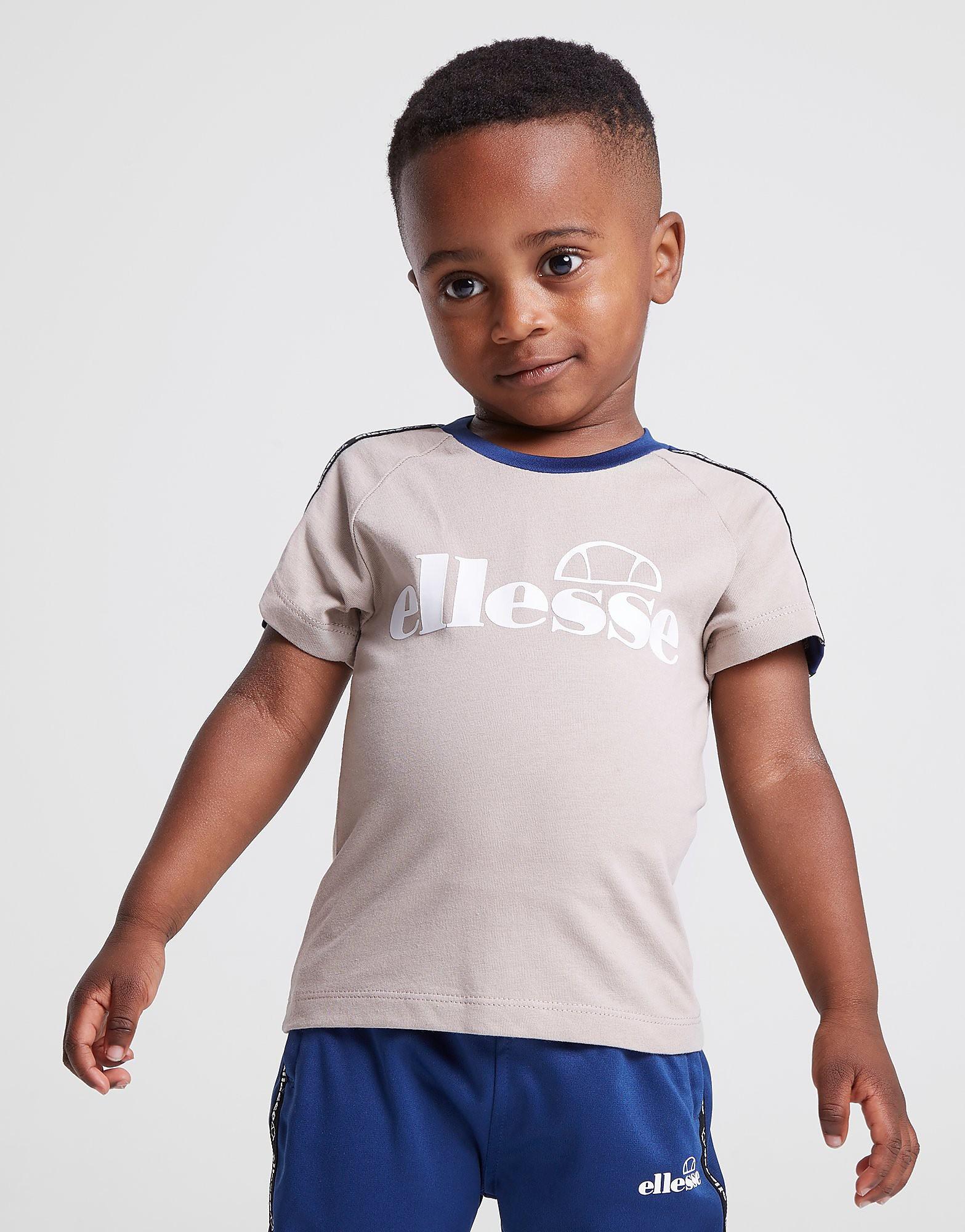 Ellesse Edison Tape T-Shirt Baby's - alleen bij JD - Beige - Kind