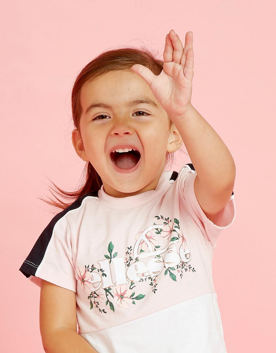 Ellesse Girls' Dahlia T-Shirt Baby's - alleen bij JD - Roze - Kind