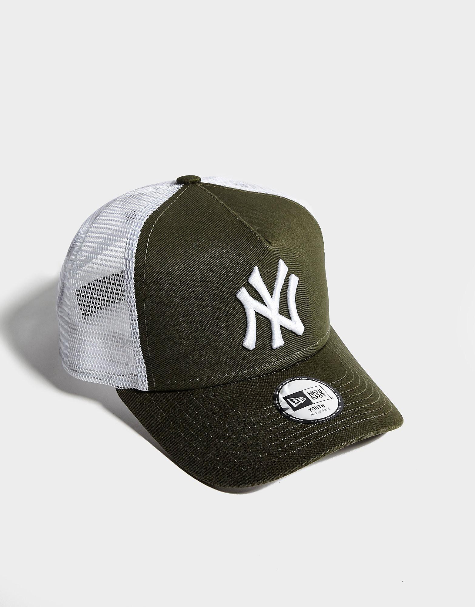 New Era MLB New York Yankees Trucker Cap Junior - Olive/White - Kind