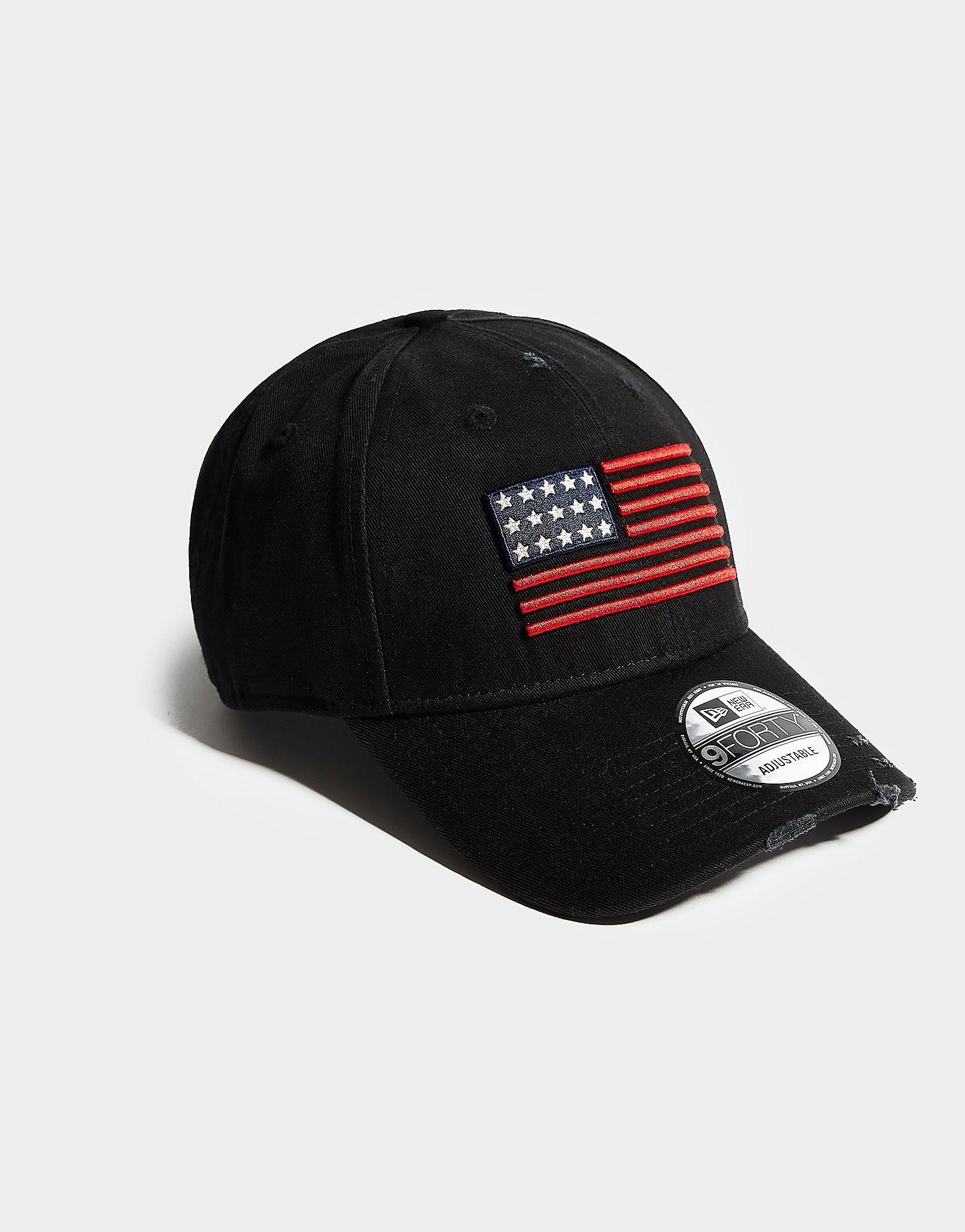 New Era US Flag 9FORTY Cap - Zwart - Heren