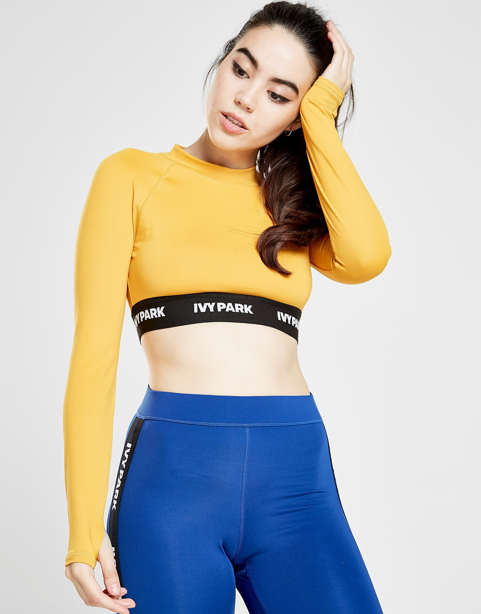 IVY PARK Tape Logo Long Sleeve Top - Gold - Womens, Gold