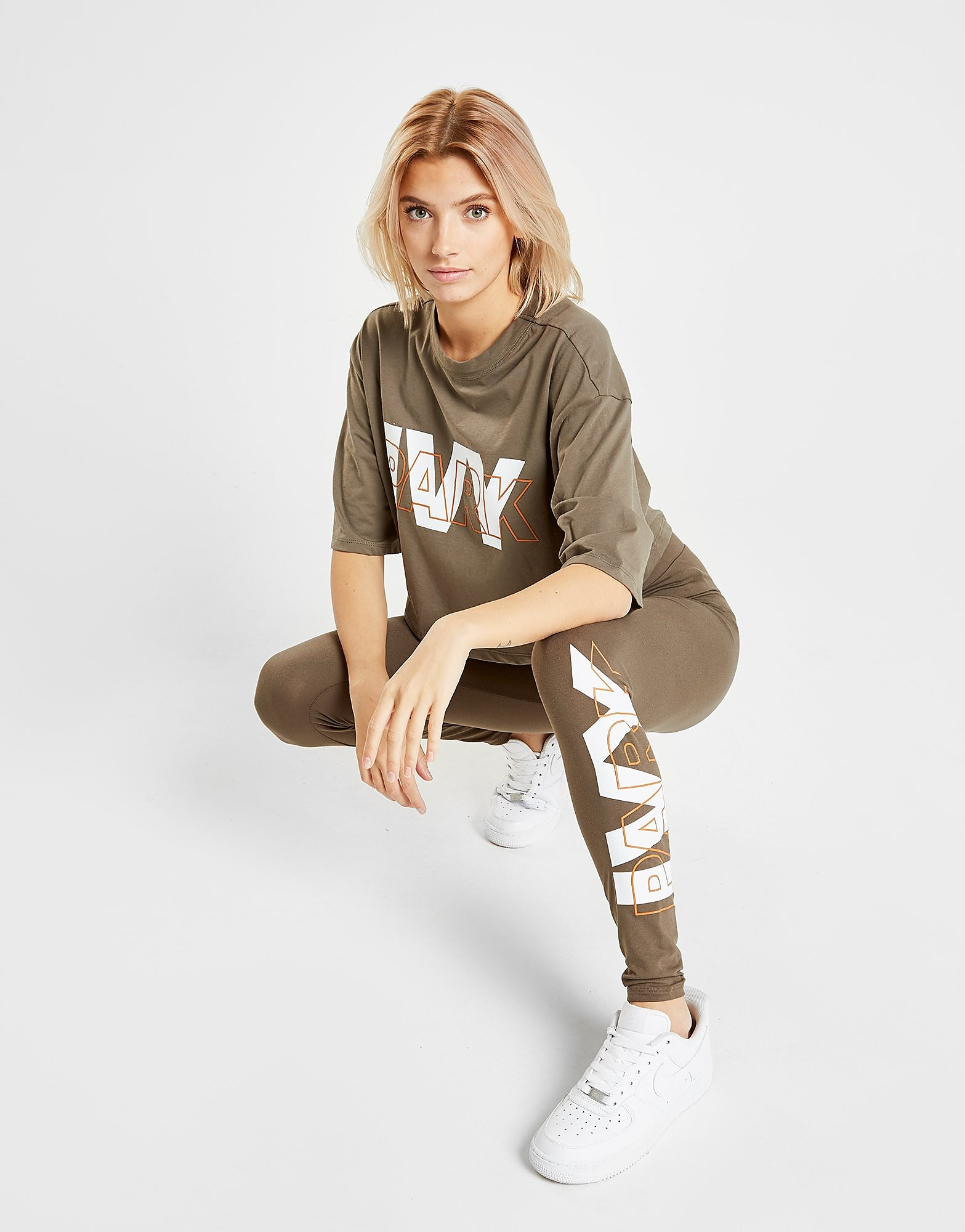 IVY PARK Layer Logo Leggings Dames - Khaki - Dames