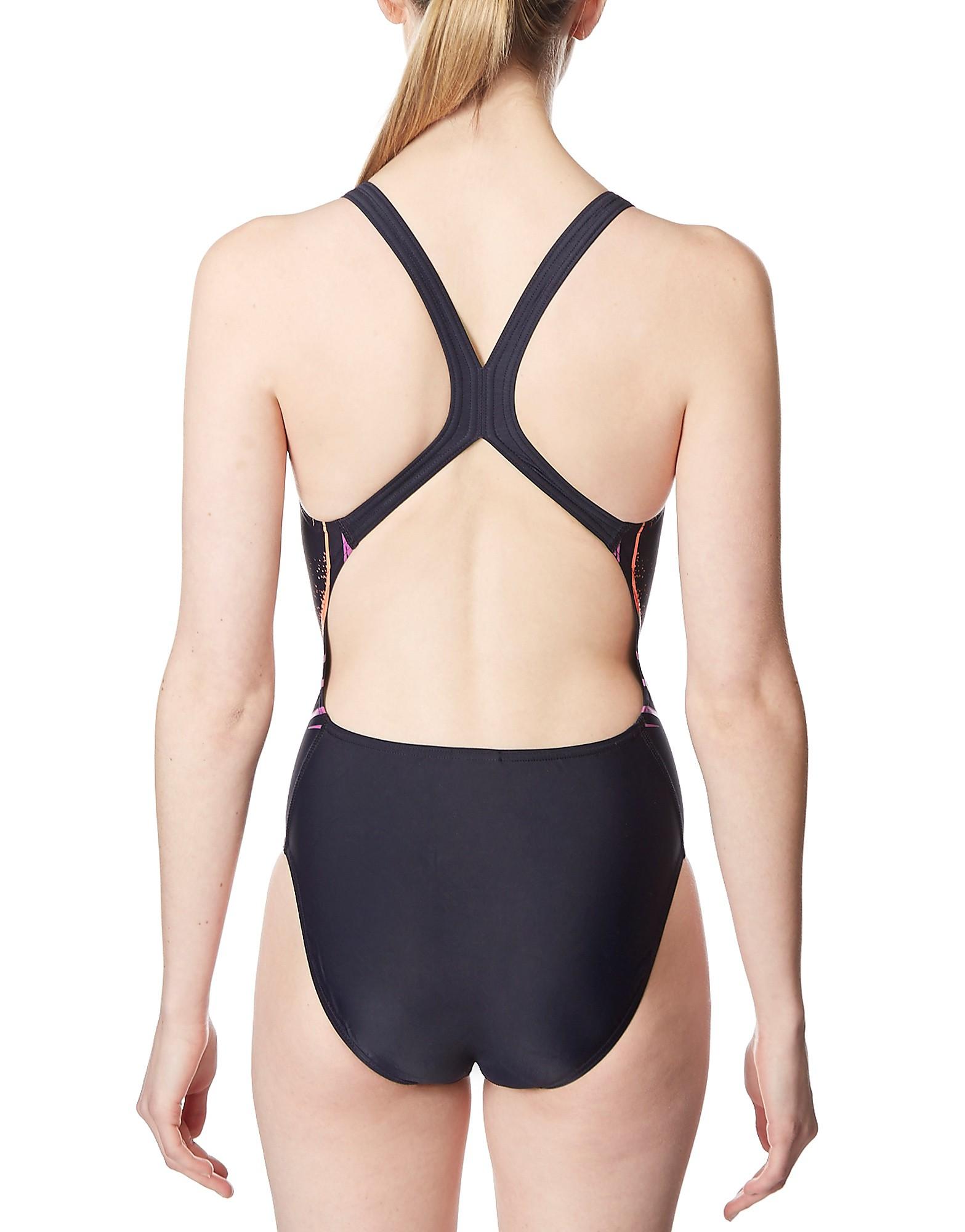 Speedo Placement Powerback Printed 7 Swimsuit