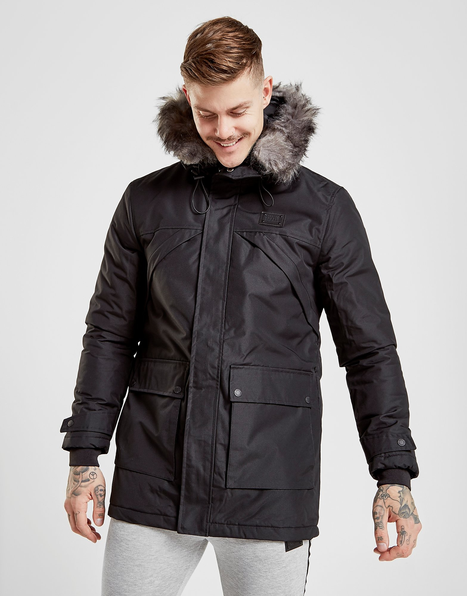 Supply & Demand Stark Parka Jacket Heren - Zwart - Heren
