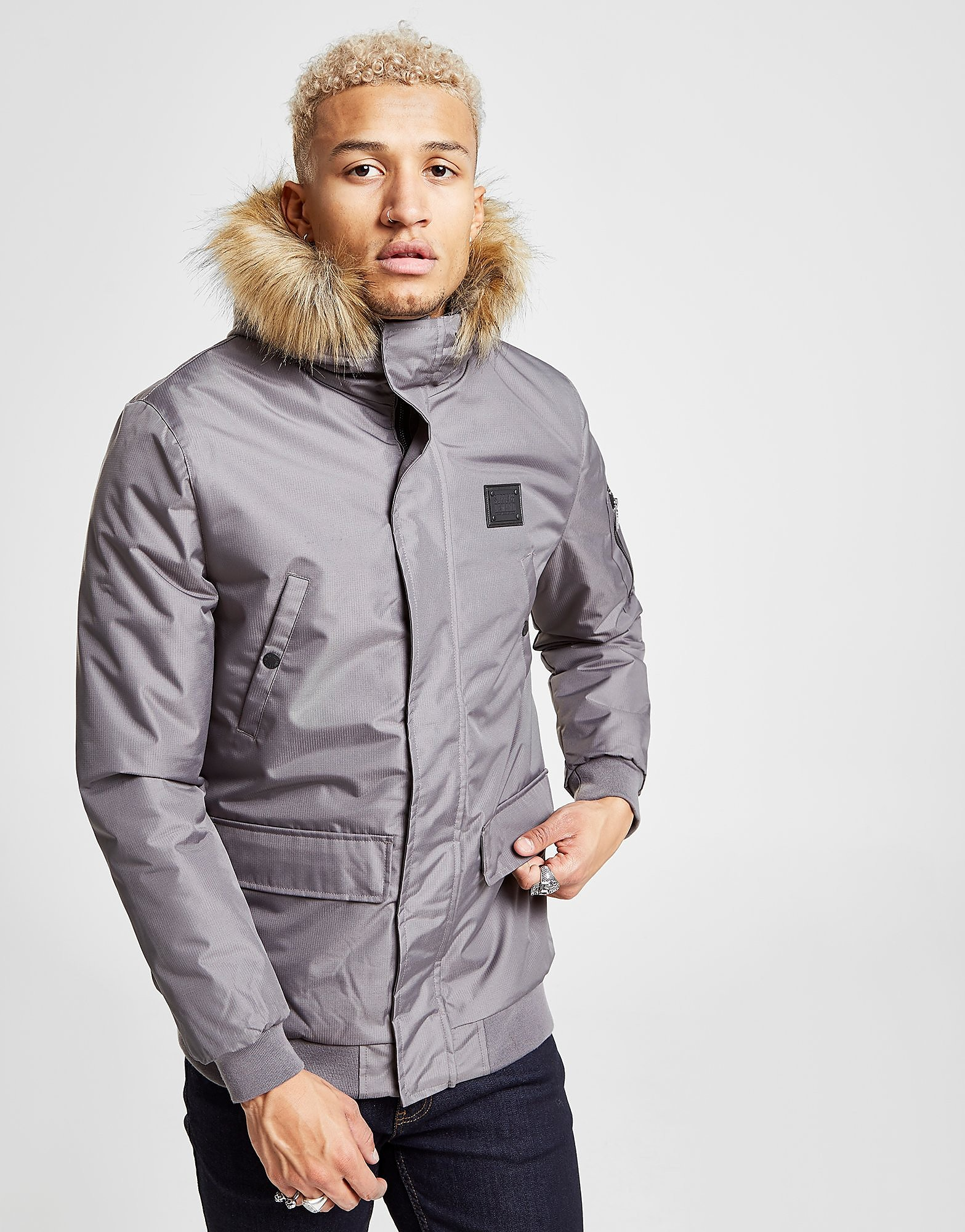 Supply & Demand Vertex Cropped Parka Jacket - Grijs - Heren