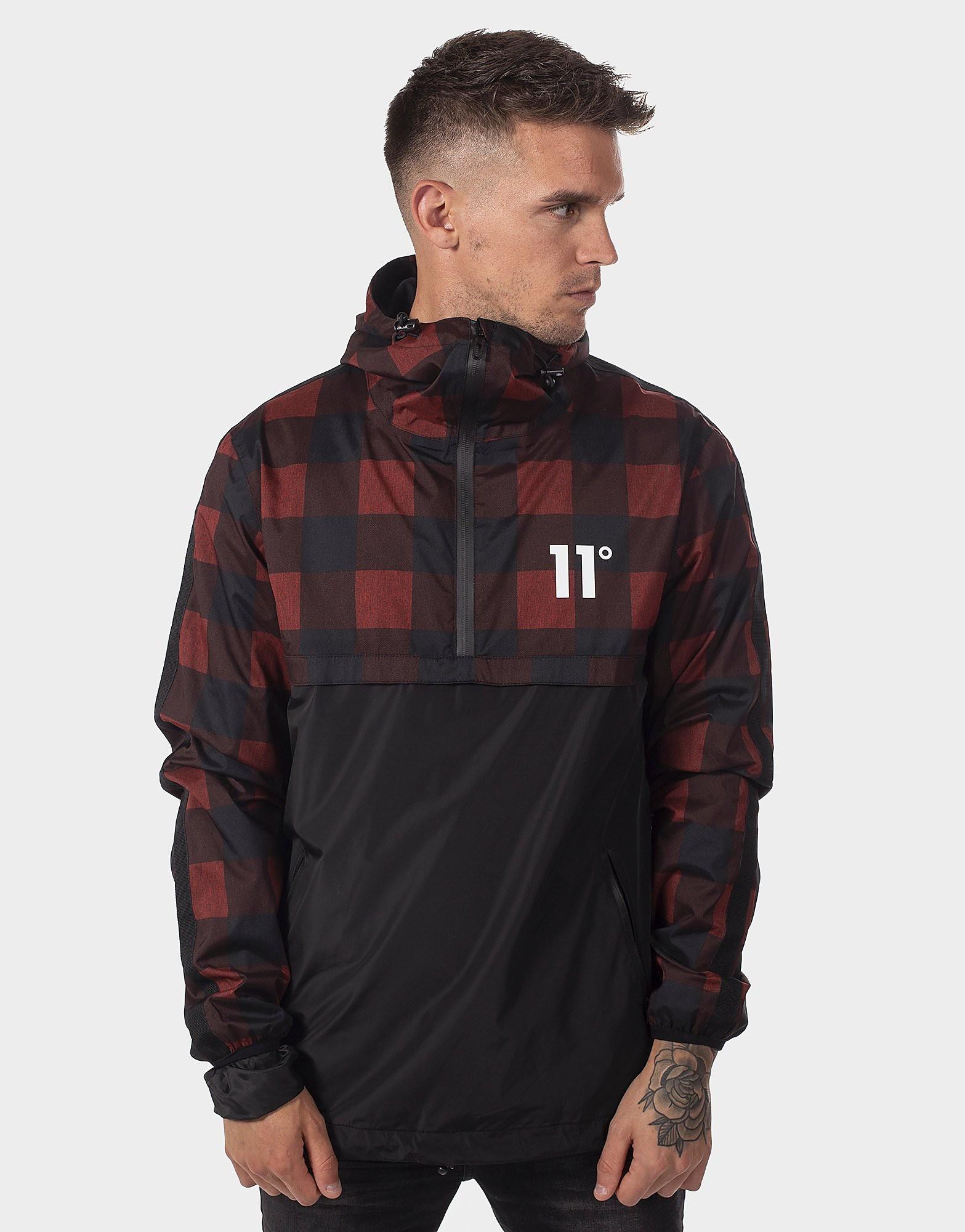11 Degrees Fishtail Check Jacket - Rot - Mens, Rot