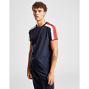 551c1309 Tommy Hilfiger Contrast Tape Short Sleeve T-Shirt ...