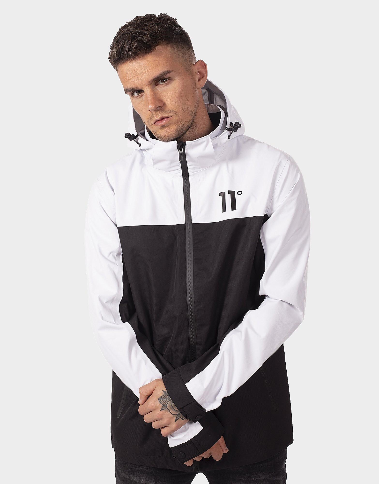 11 Degrees Colour Block Jacket - Weiss - Mens, Weiss