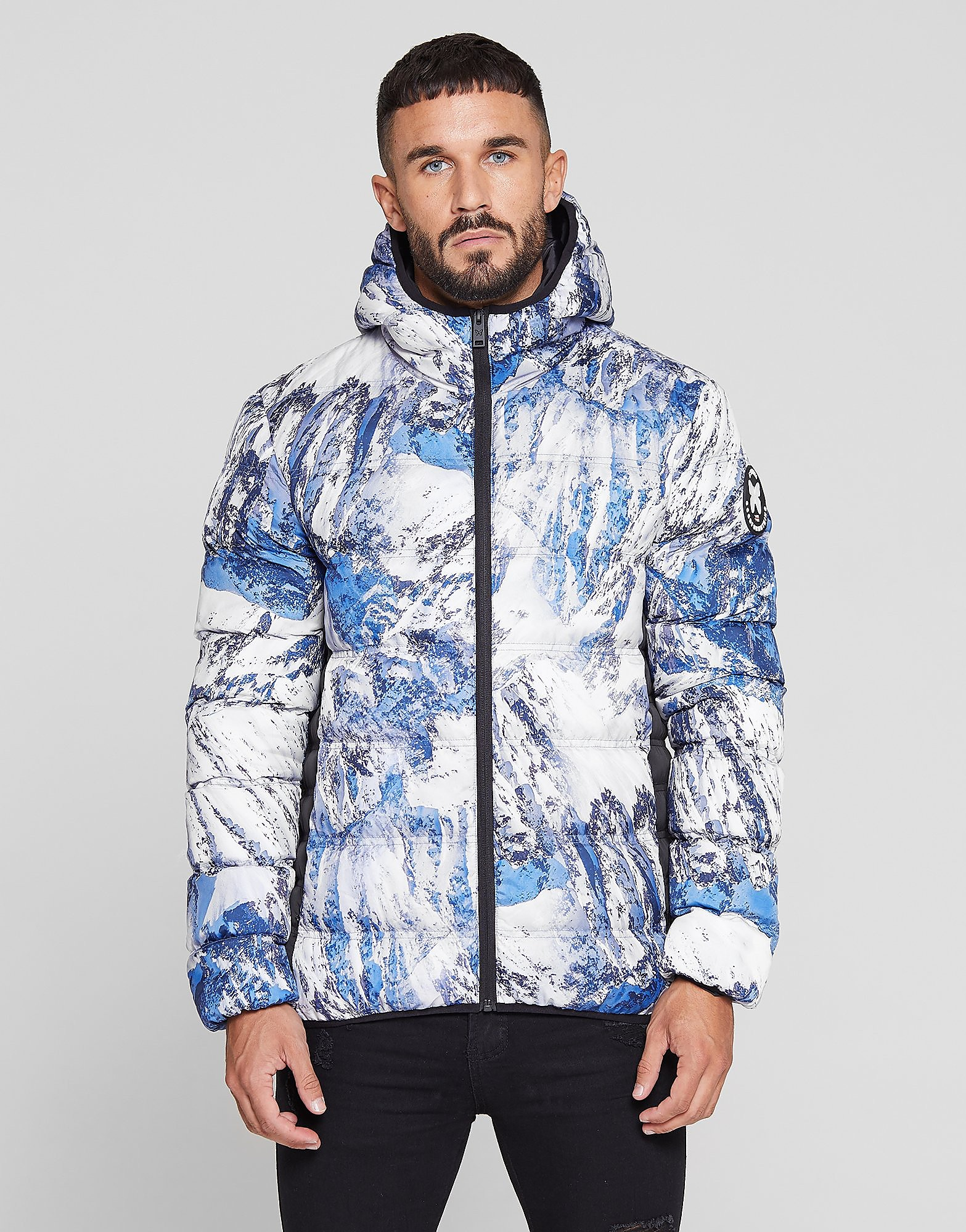 Good For Nothing All Over Print Bubble Jacket - Blauw - Heren