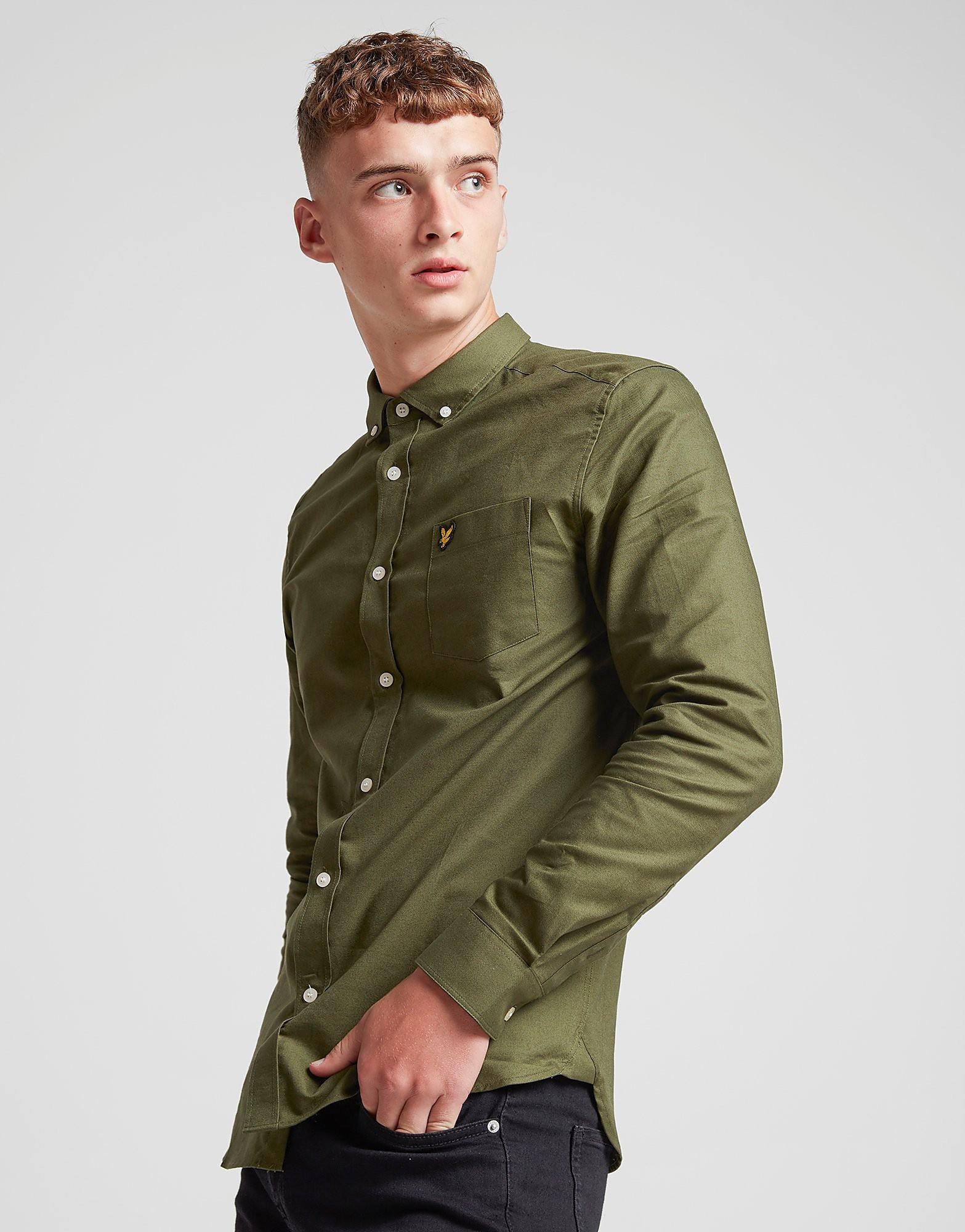 Lyle & Scott Oxford Long Sleeve Shirt Heren - alleen bij JD - Groen - Heren