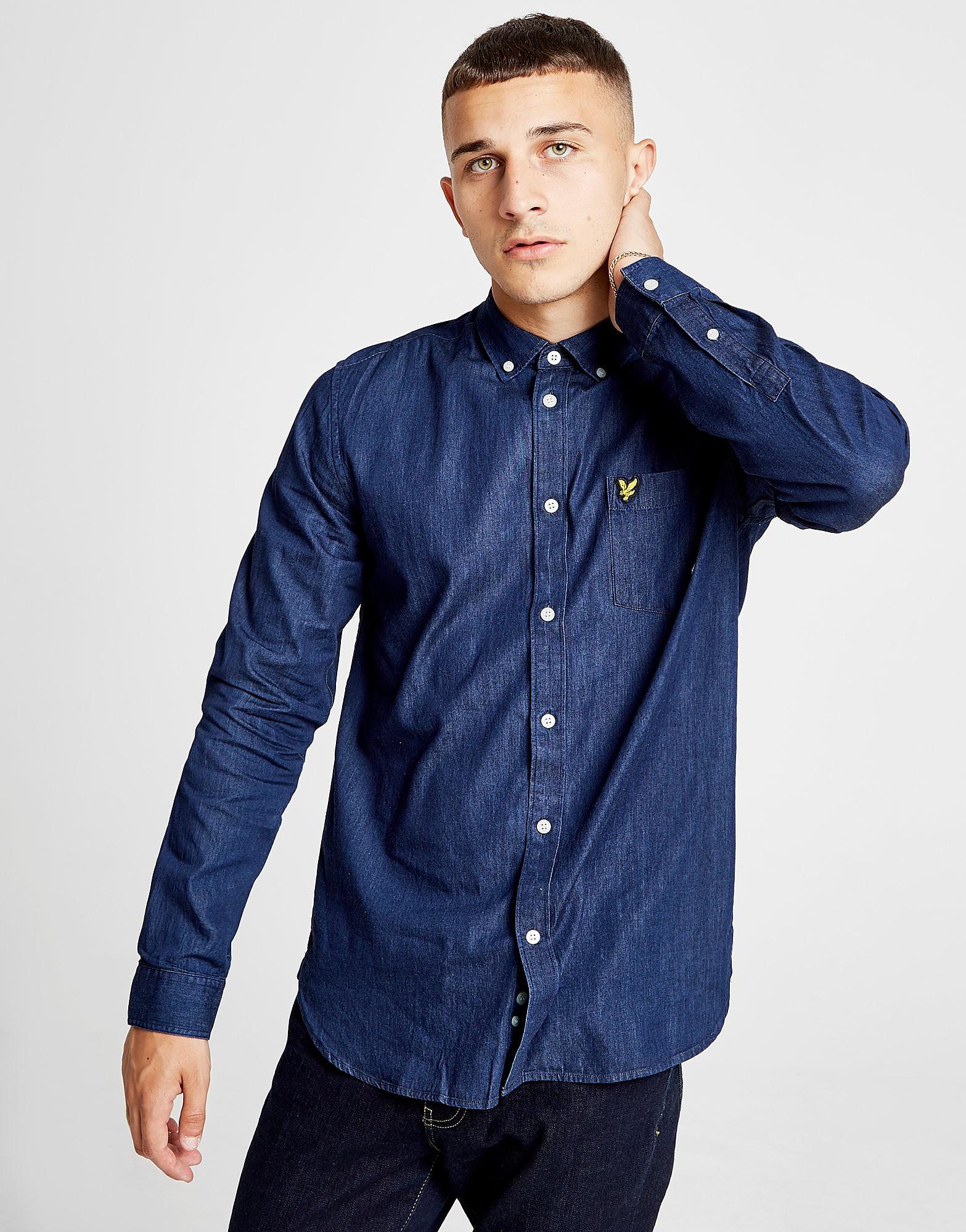 Lyle & Scott Long Sleeve Chamber Shirt Heren - Blauw - Heren