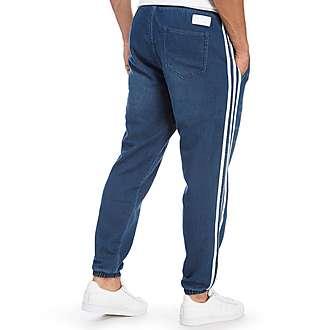 adidas Originals Fleece Denim 3 Stripe Pants