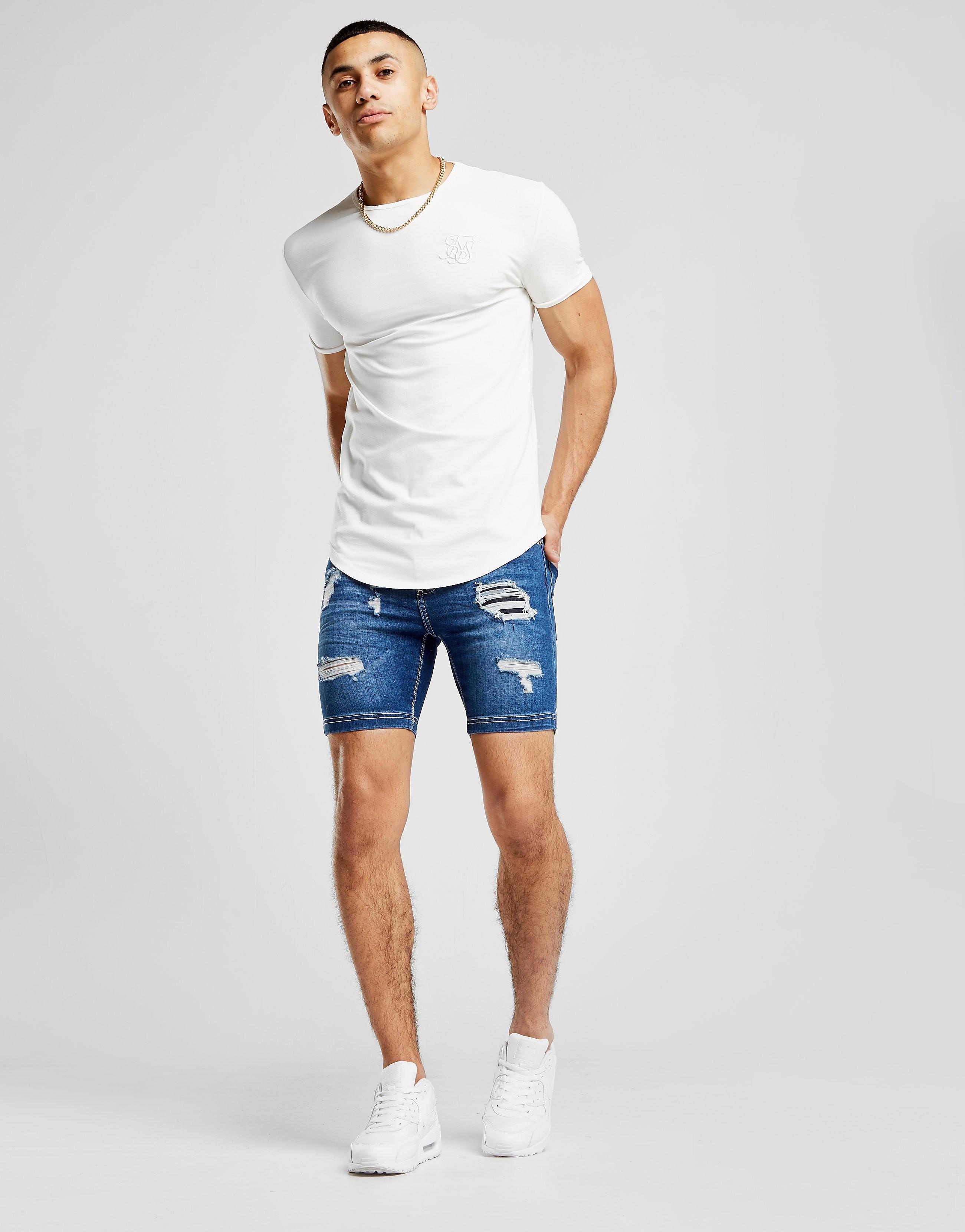 11 Degrees Rip Shorts - Blau - Mens, Blau