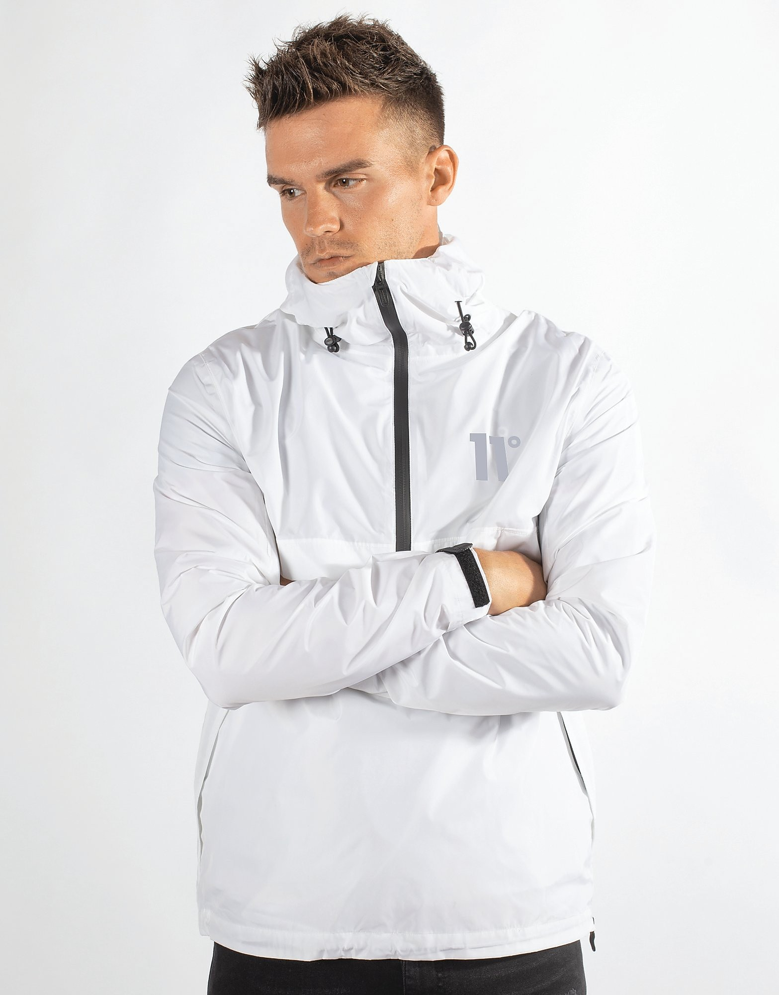 11 Degrees Hurricane 1/4 Zip Jacket - Only at JD - Weiss - Mens, Weiss