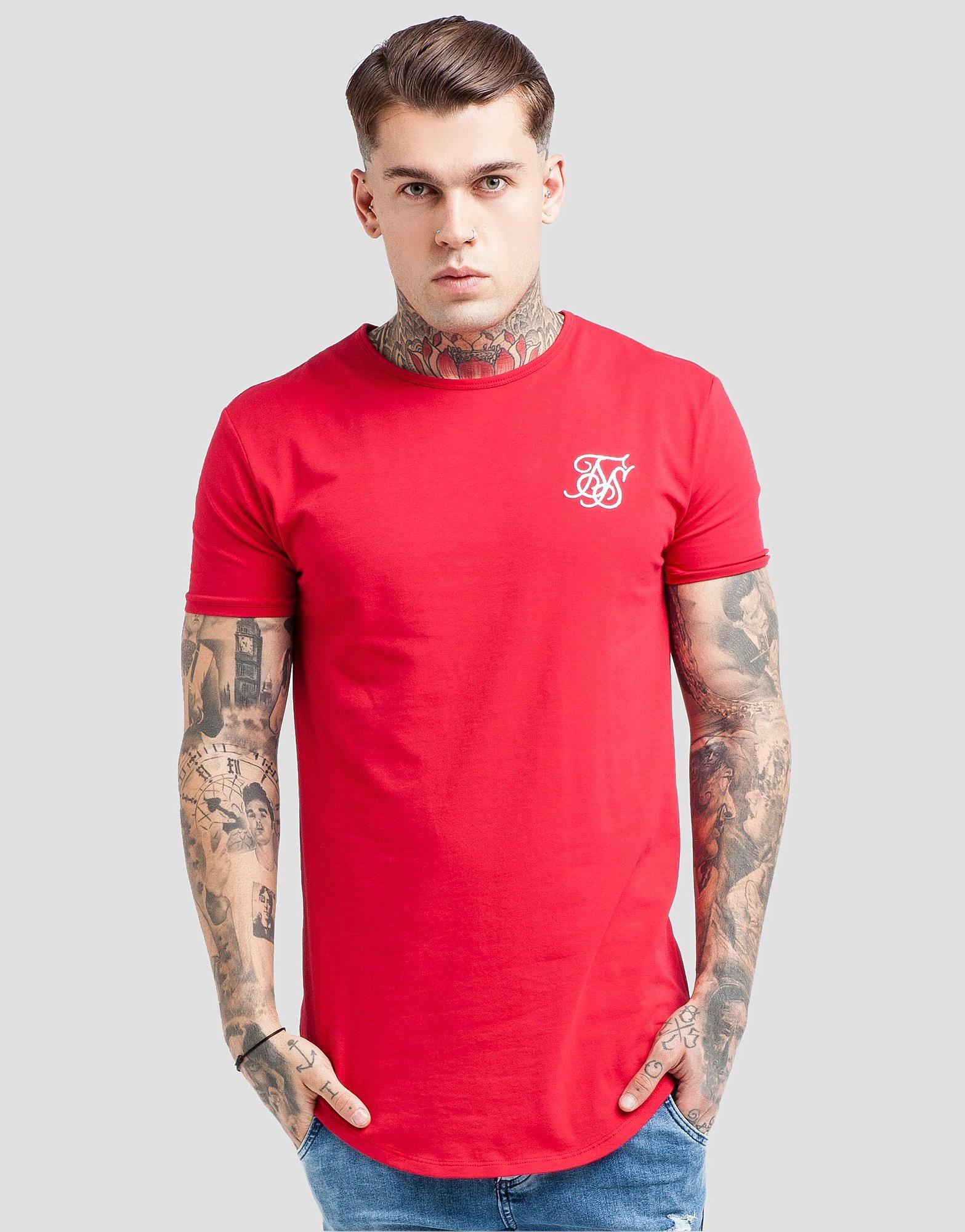 SikSilk Core T-Shirt - Rood - Heren