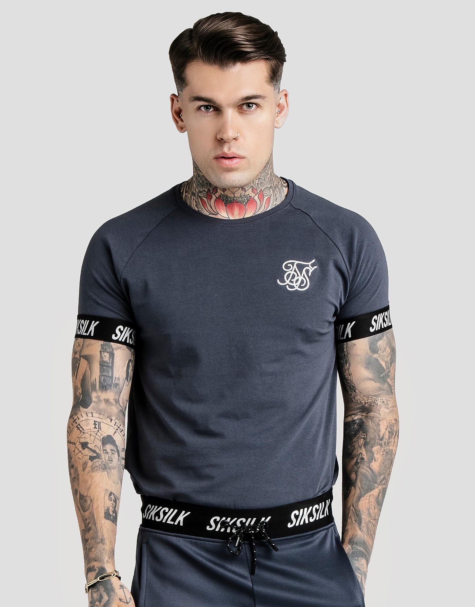 SikSilk Tape T-Shirt - alleen bij JD - Grijs - Heren