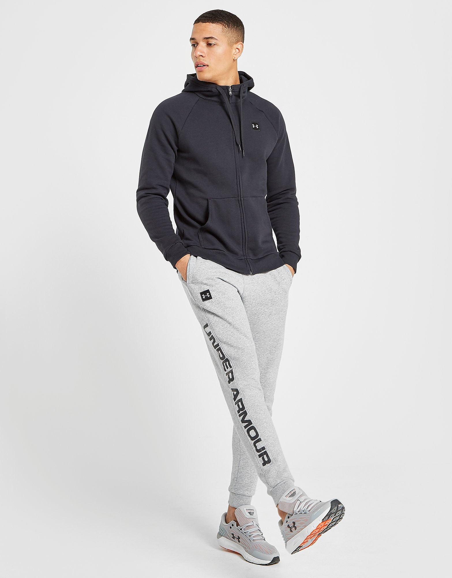 Under Armour Rival Full Zip Hoodie Heren - Zwart - Heren