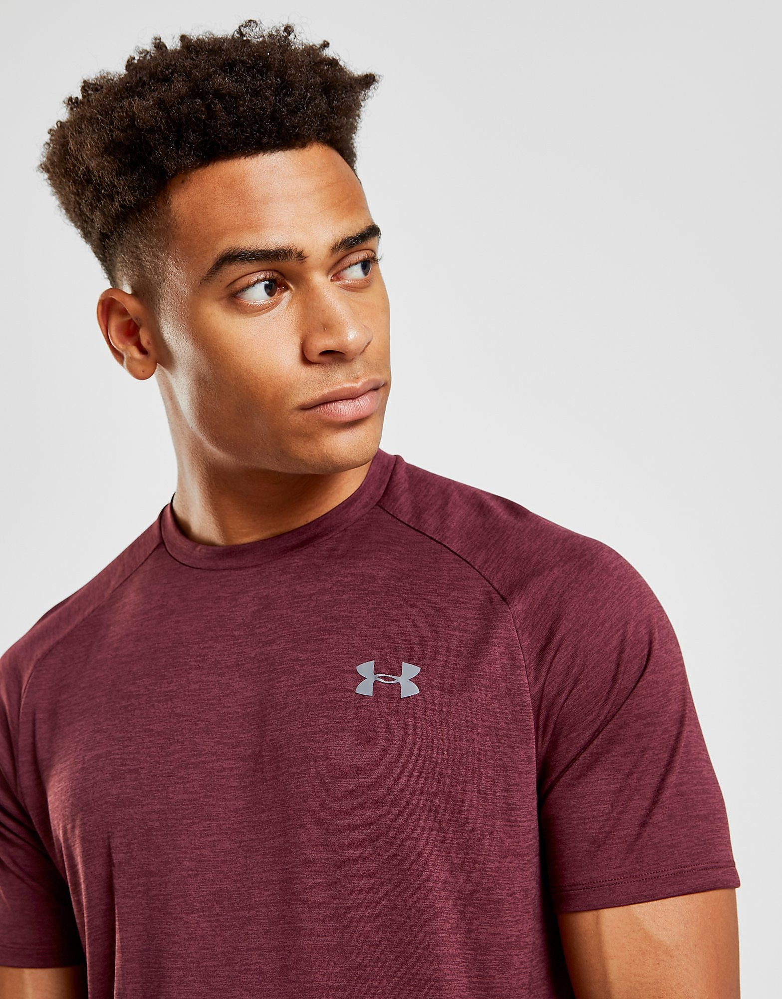 Under Armour Tech Twist T-Shirt Heren - alleen bij JD - Maroon - Heren
