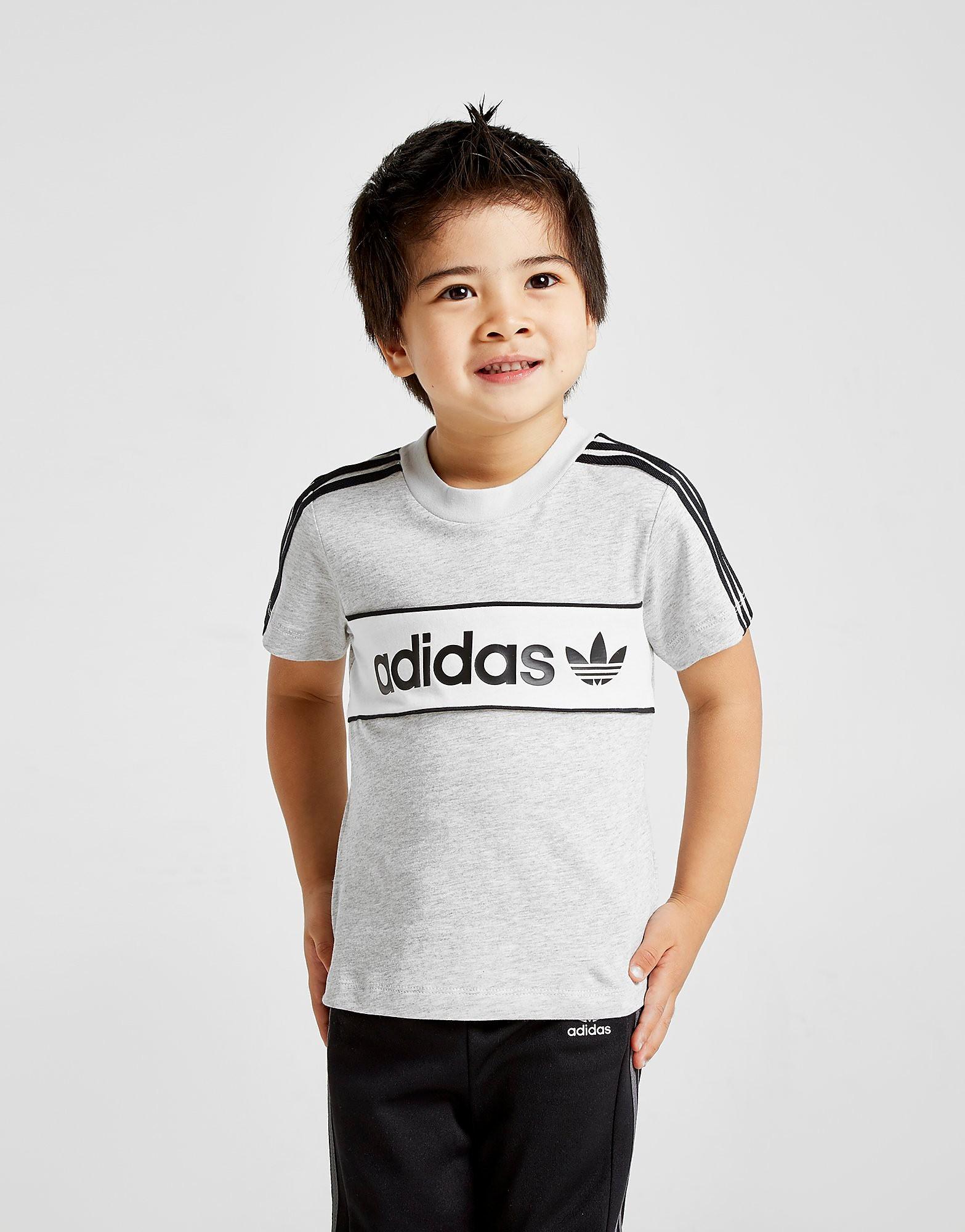 adidas Originals Linear Colour Block T-Shirt Baby's - alleen bij JD - Grijs - Kind