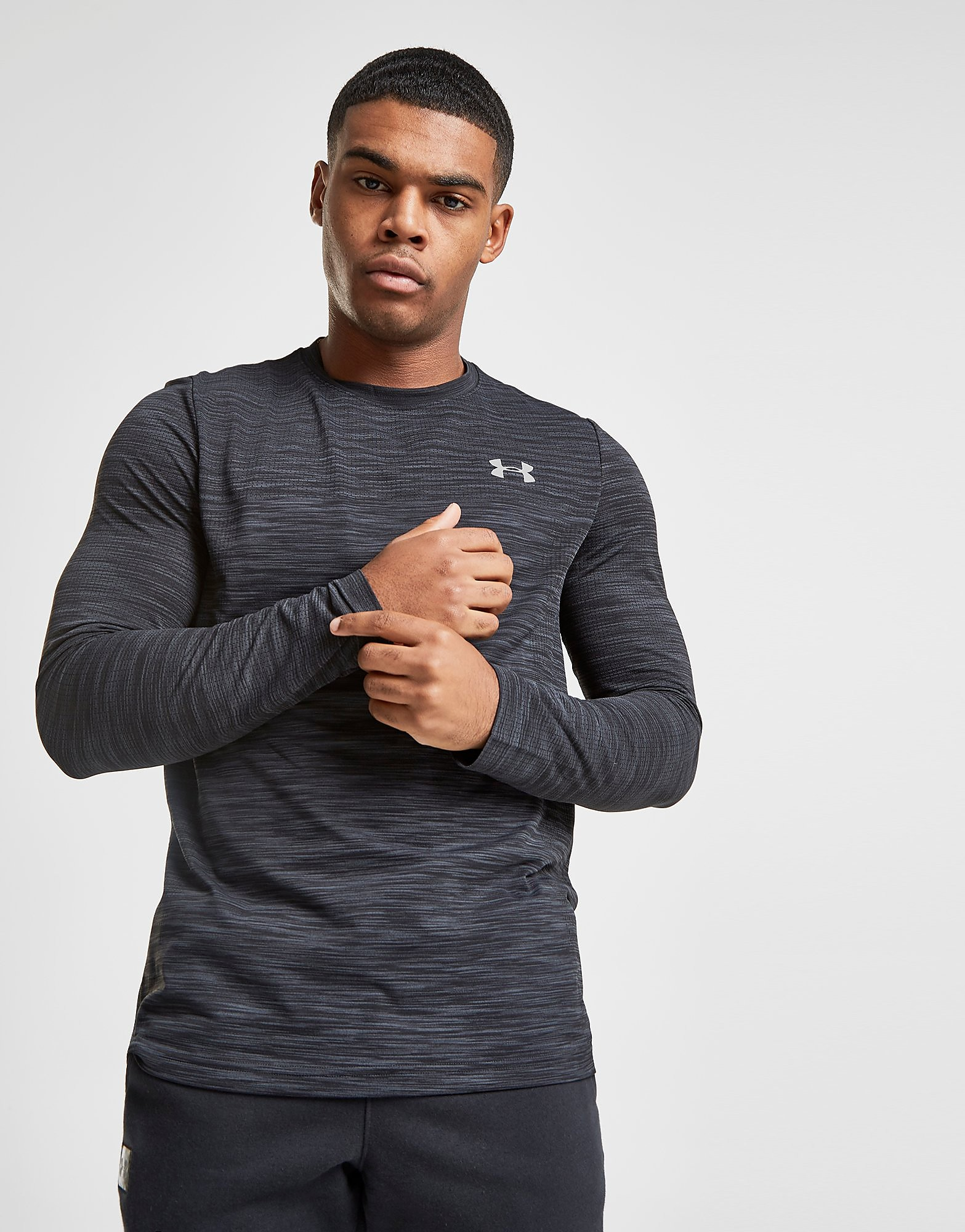 Under Armour Siphon Long Sleeve T-Shirt Heren - Grijs - Heren