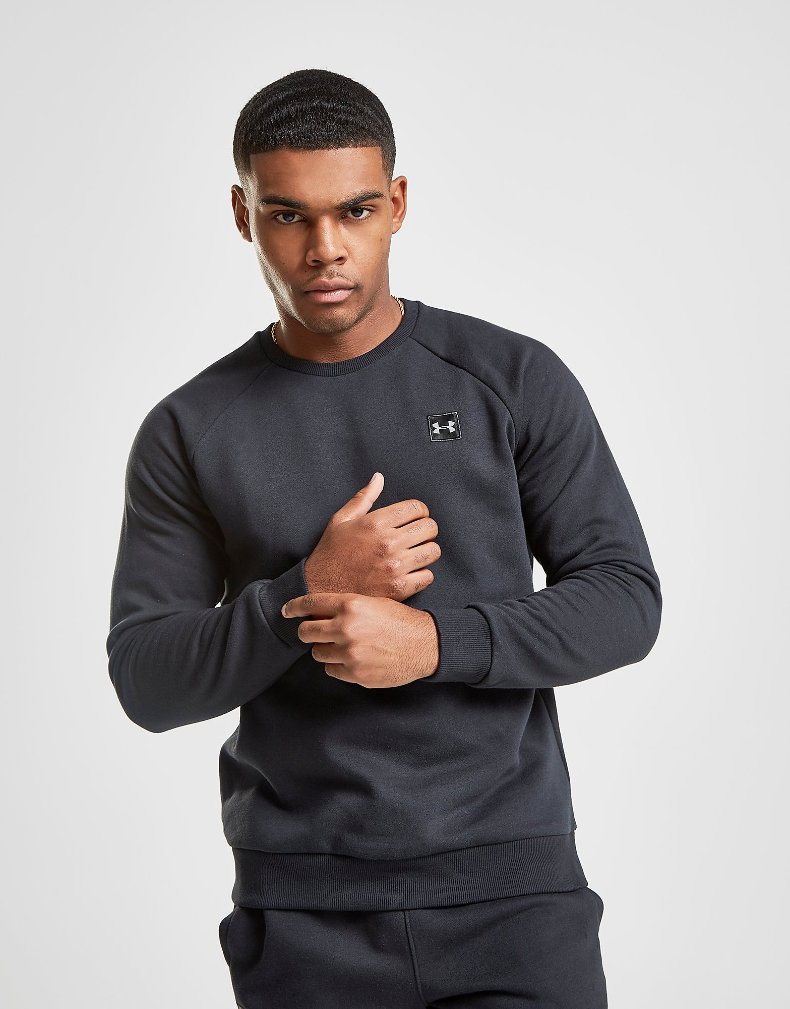 Under Armour Rival Crew Sweatshirt - Schwarz - Mens, Schwarz