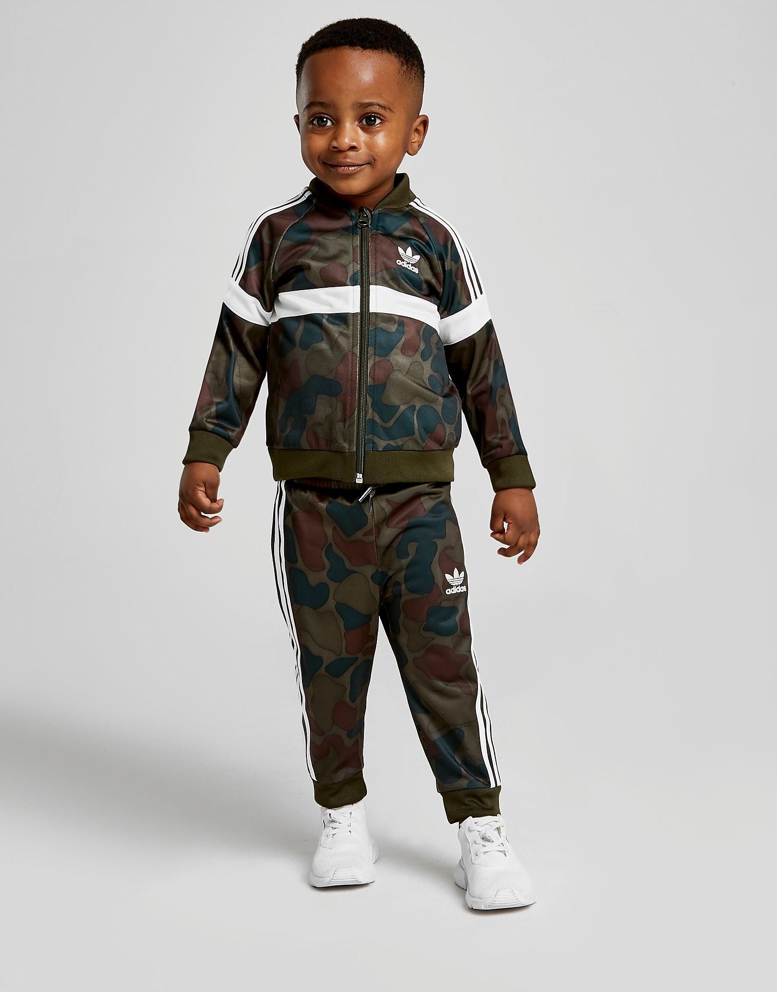 adidas Originals Itasca Camo Superstar Tracksuit Baby's - alleen bij JD - Groen - Kind