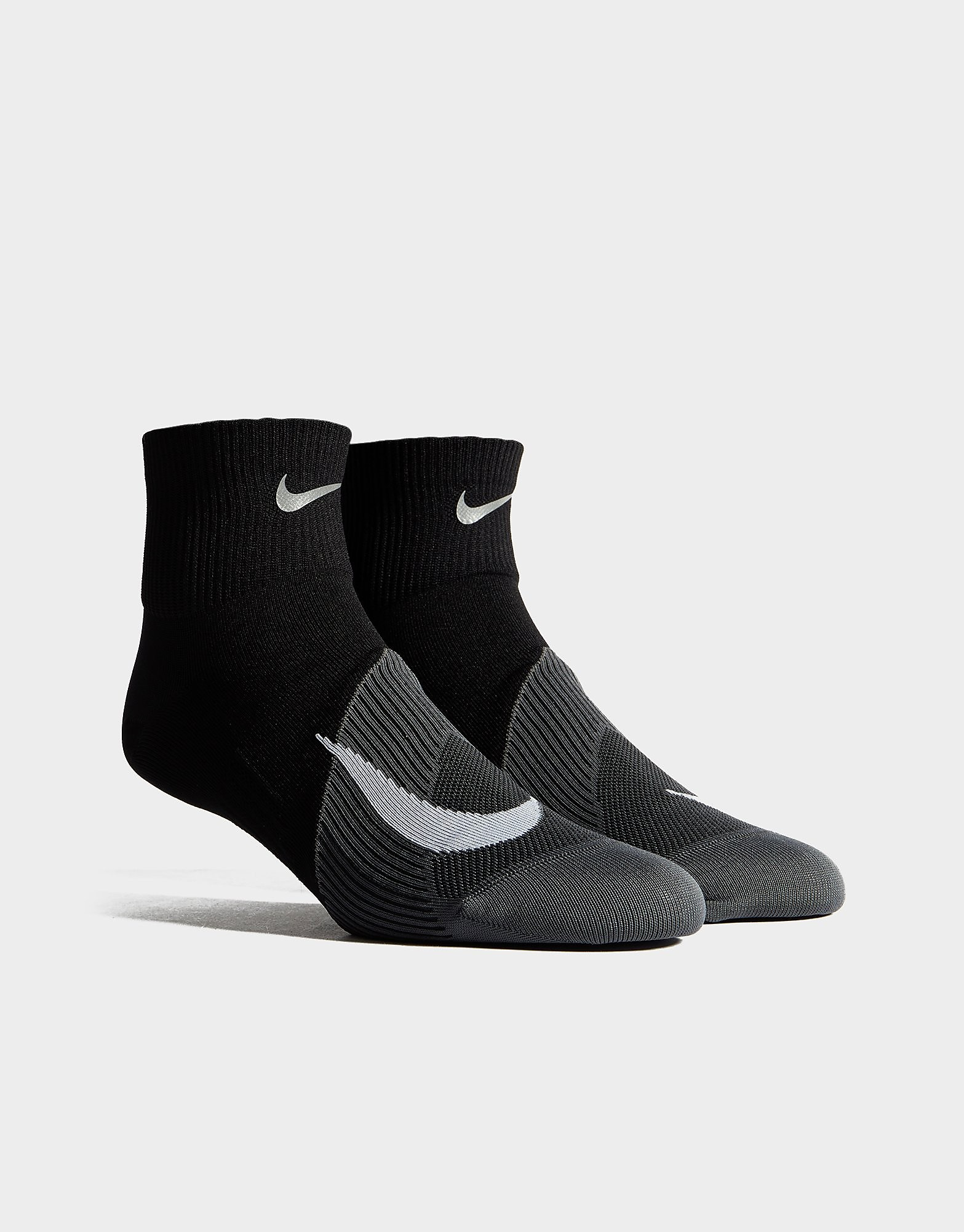 Nike Running Elite Lightweight Quarter Socks - Zwart - Heren