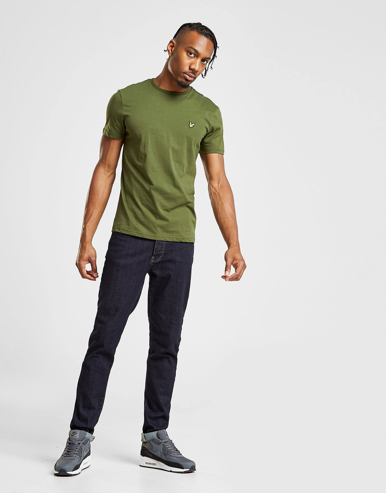 Lyle & Scott Crew Neck Short Sleeve T-Shirt - Groen - Heren