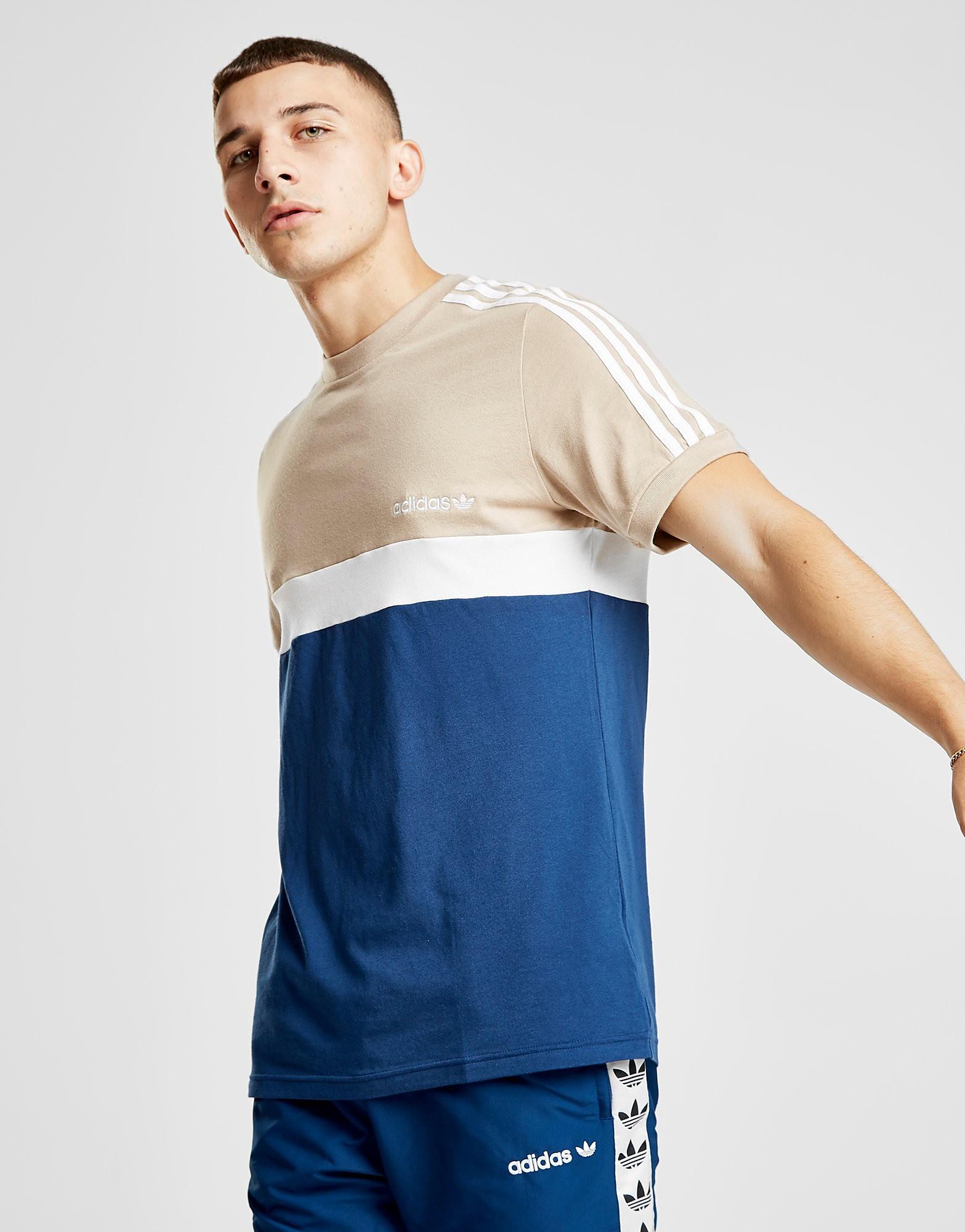 adidas Originals Itasca Colour Block T-Shirt Heren - alleen bij JD - Blauw - Heren