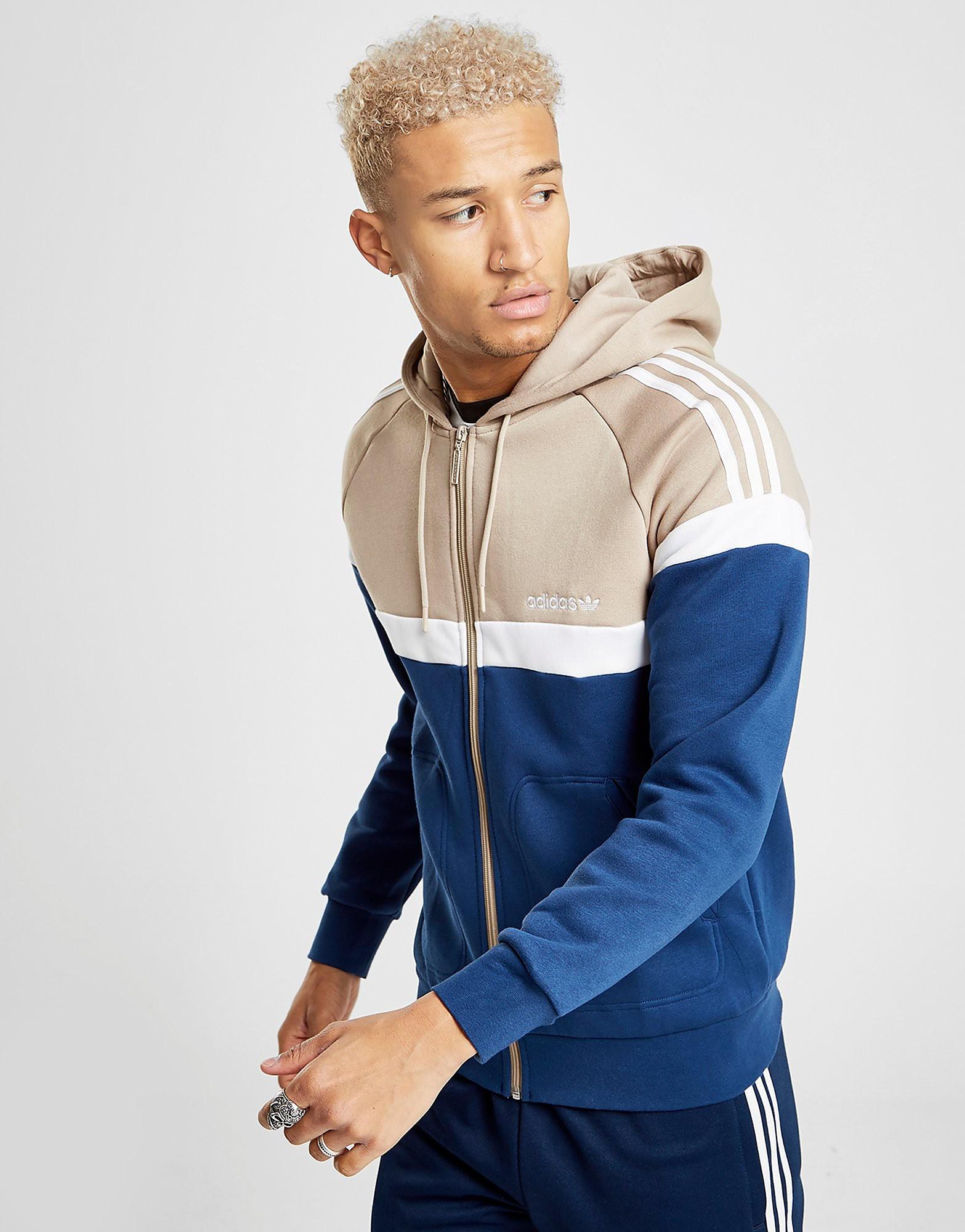 adidas Originals Itasca Full Zip Hoodie Heren - alleen bij JD - Blauw - Heren