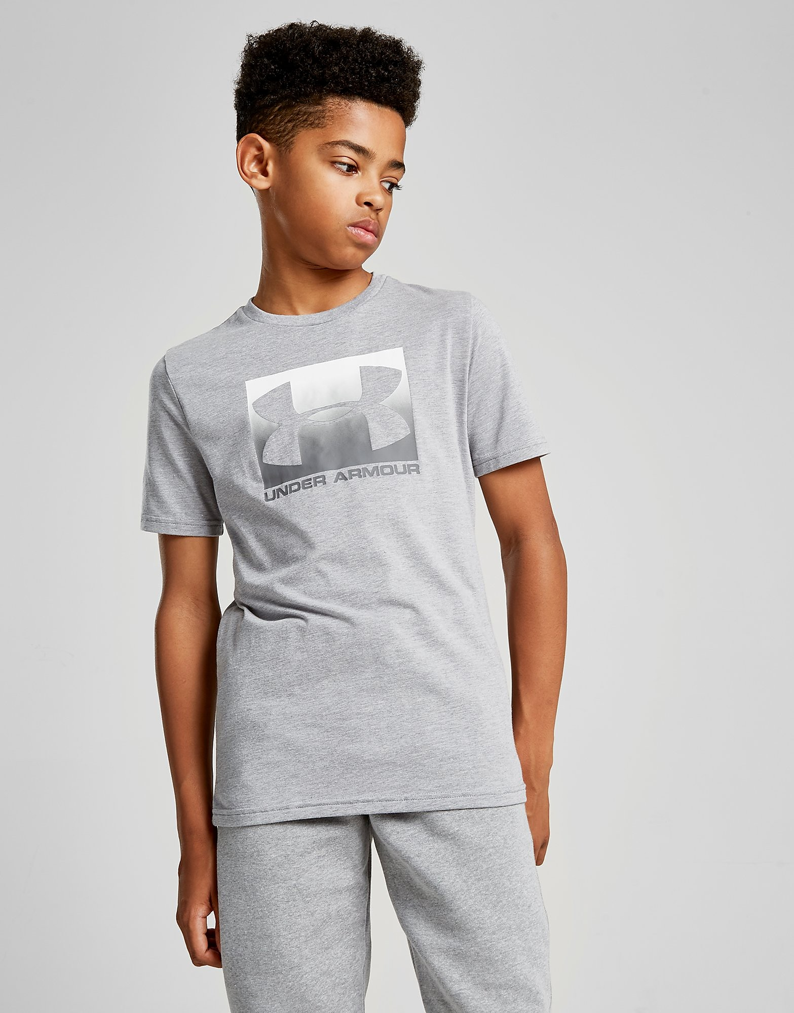 Under Armour Box T-Shirt Junior - Grijs - Kind
