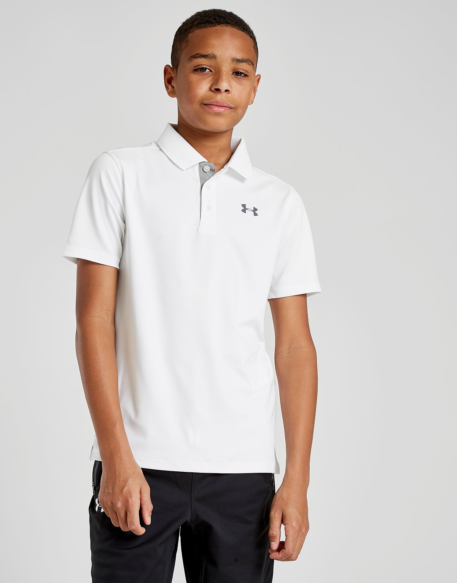 Under Armour Performance Polo Shirt Junior - Wit - Kind