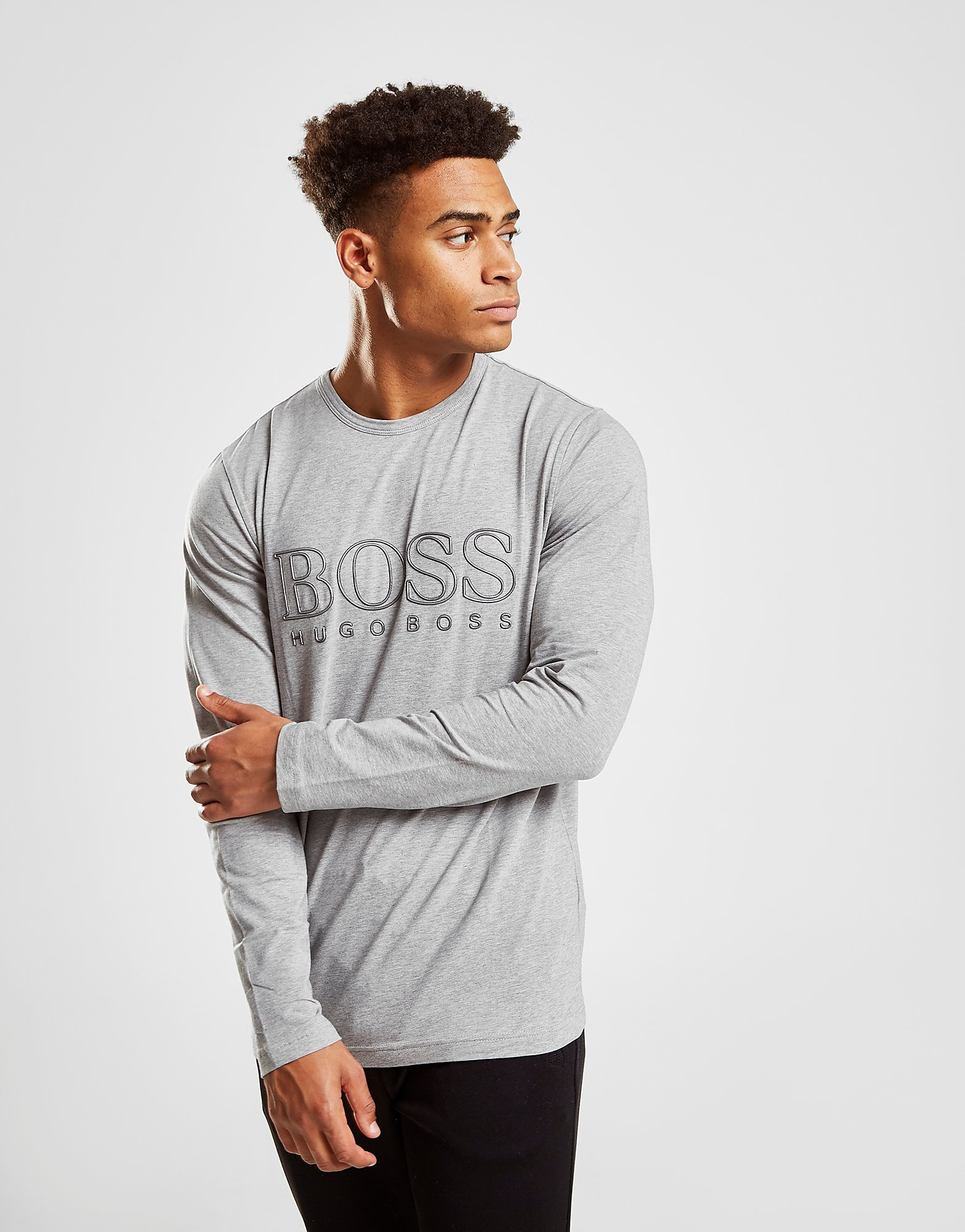 BOSS Green Long Sleeve T-Shirt Heren - Grijs - Heren