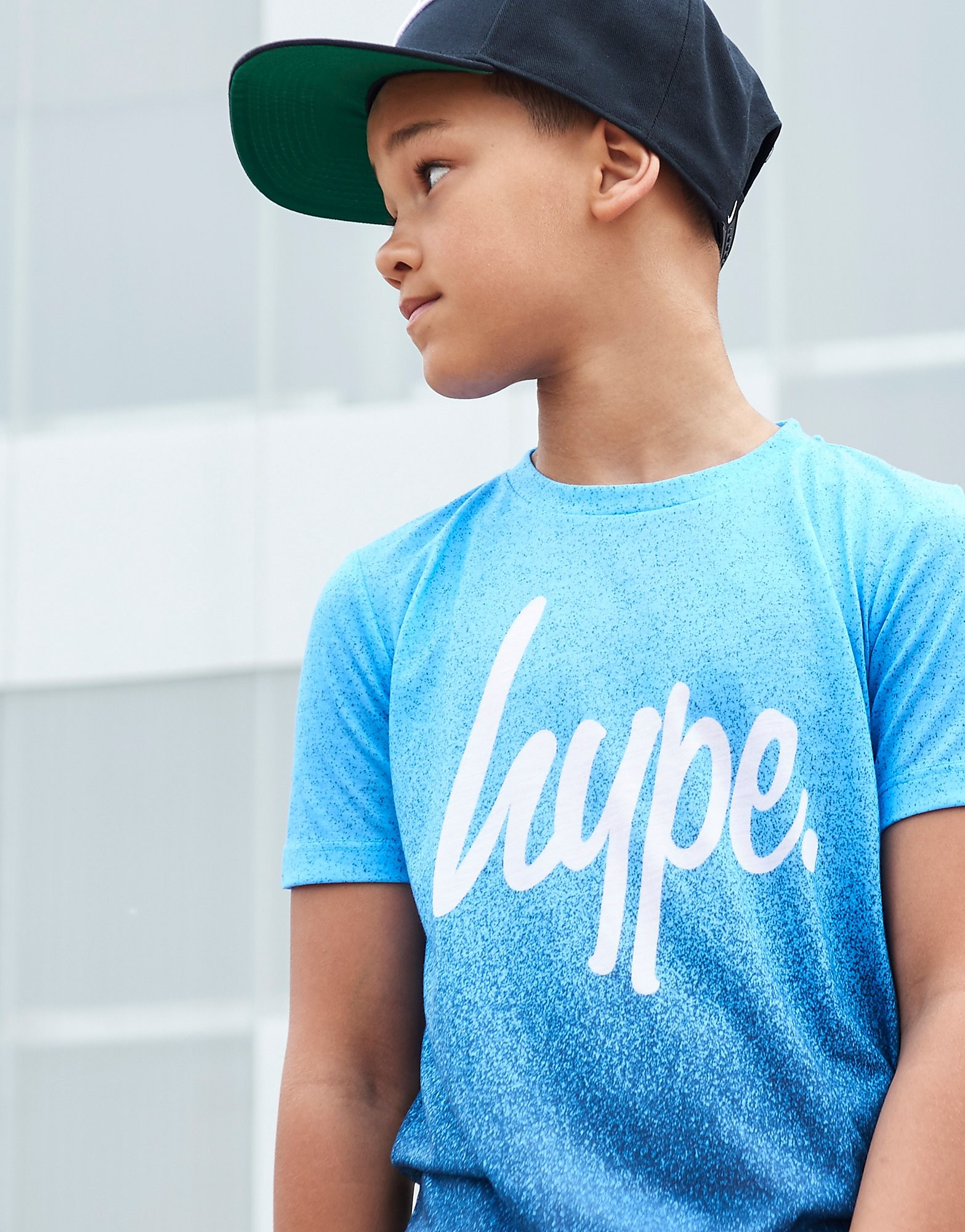 Hype Blue Fade Speckle T-Shirt Junior