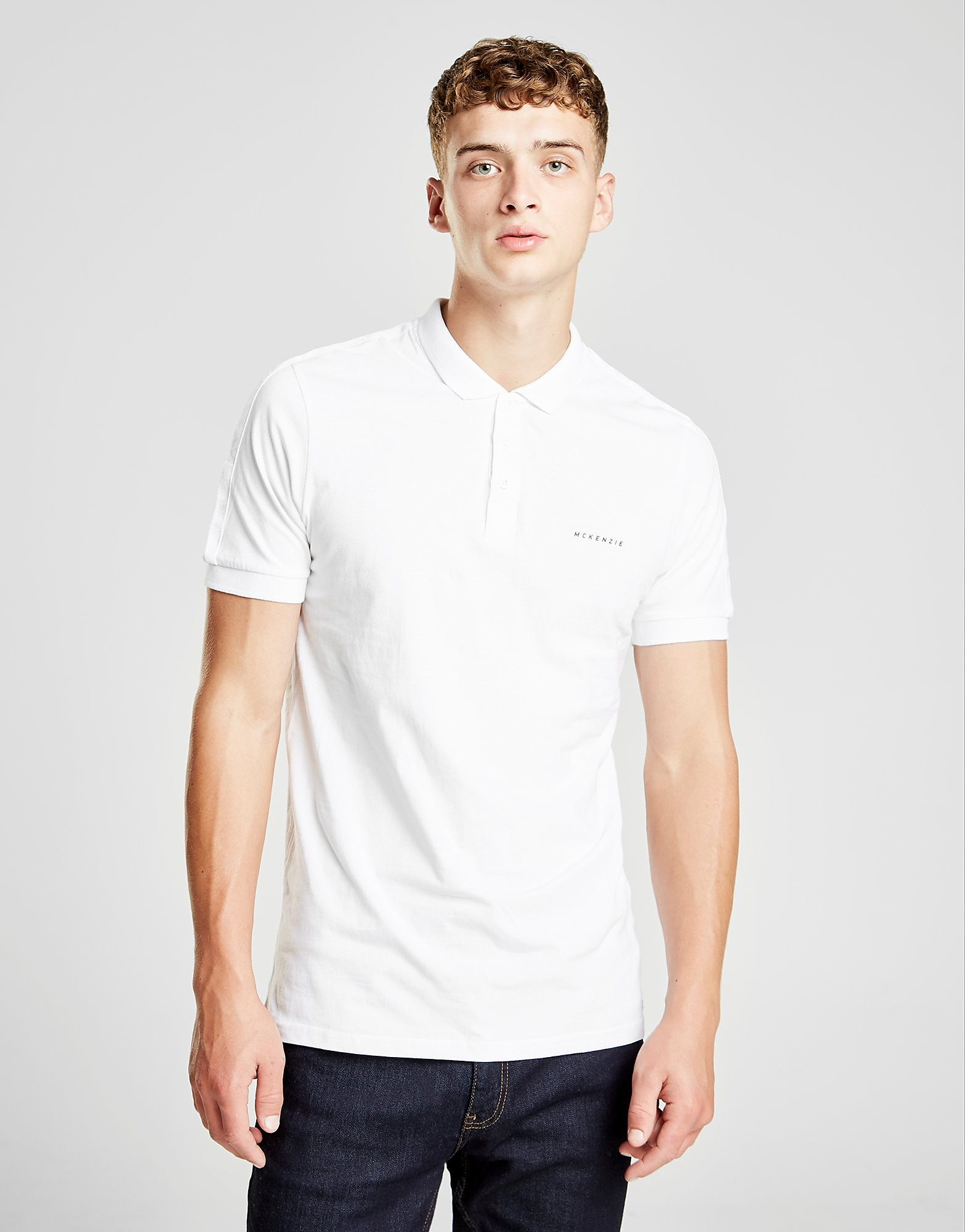 McKenzie Hurricane Taped Polo Shirt Heren - alleen bij JD - Wit - Heren