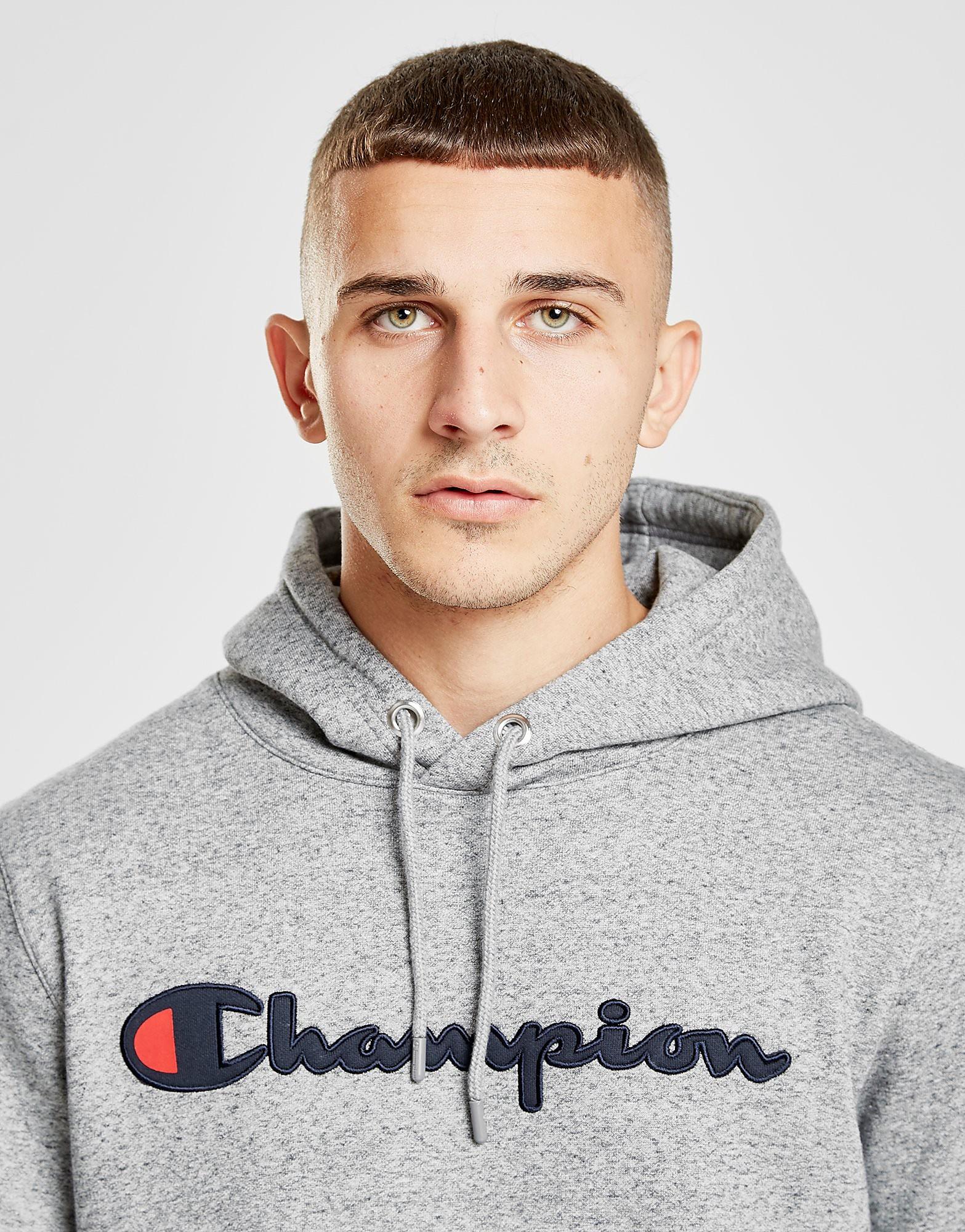Champion Premium Script Hoodie Heren - alleen bij JD - Grijs - Heren