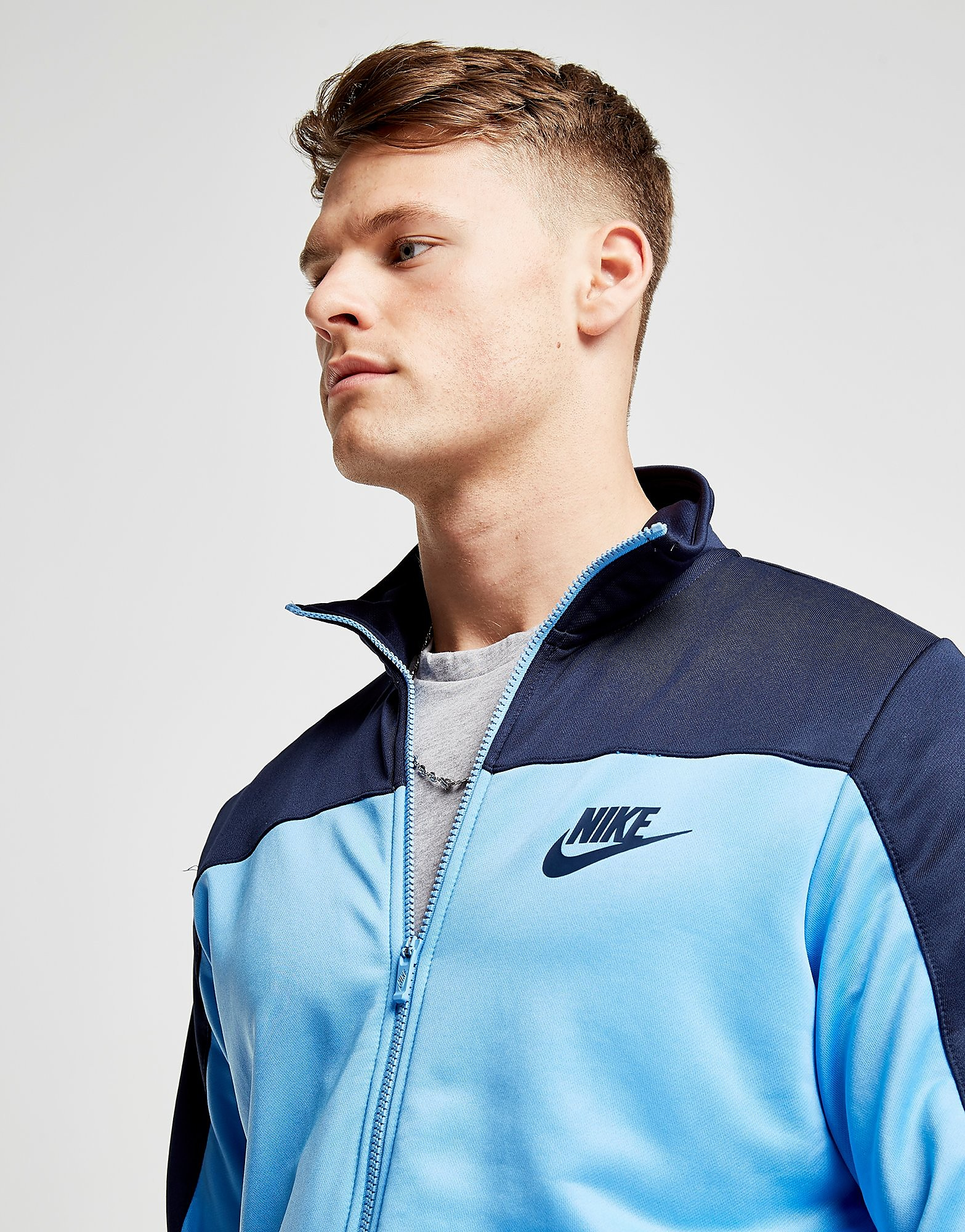 Nike Season Colourblock Poly Track Top Heren - Blauw - Heren