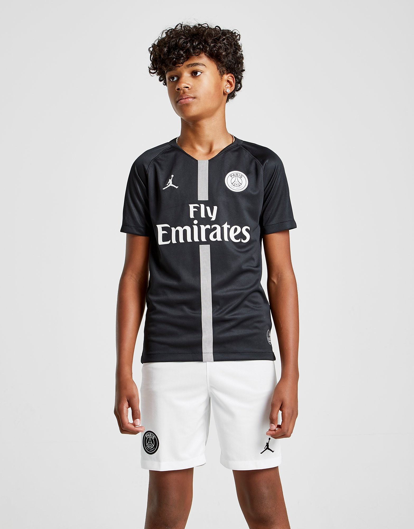 Jordan x Paris Saint Germain 2018/19 CL Home Shirt Junior - Zwart - Kind