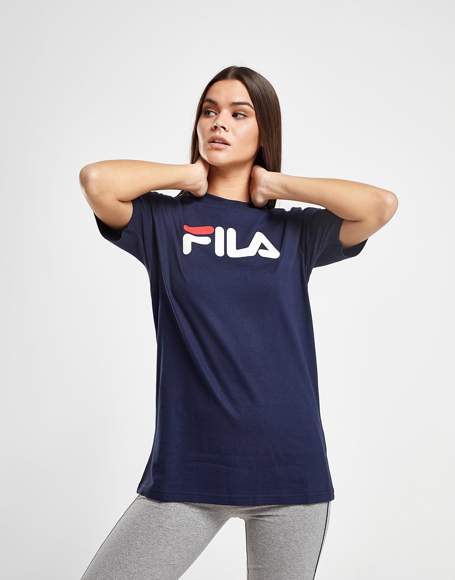 Fila Boyfriend Logo T-Shirt Dames - Blauw - Dames